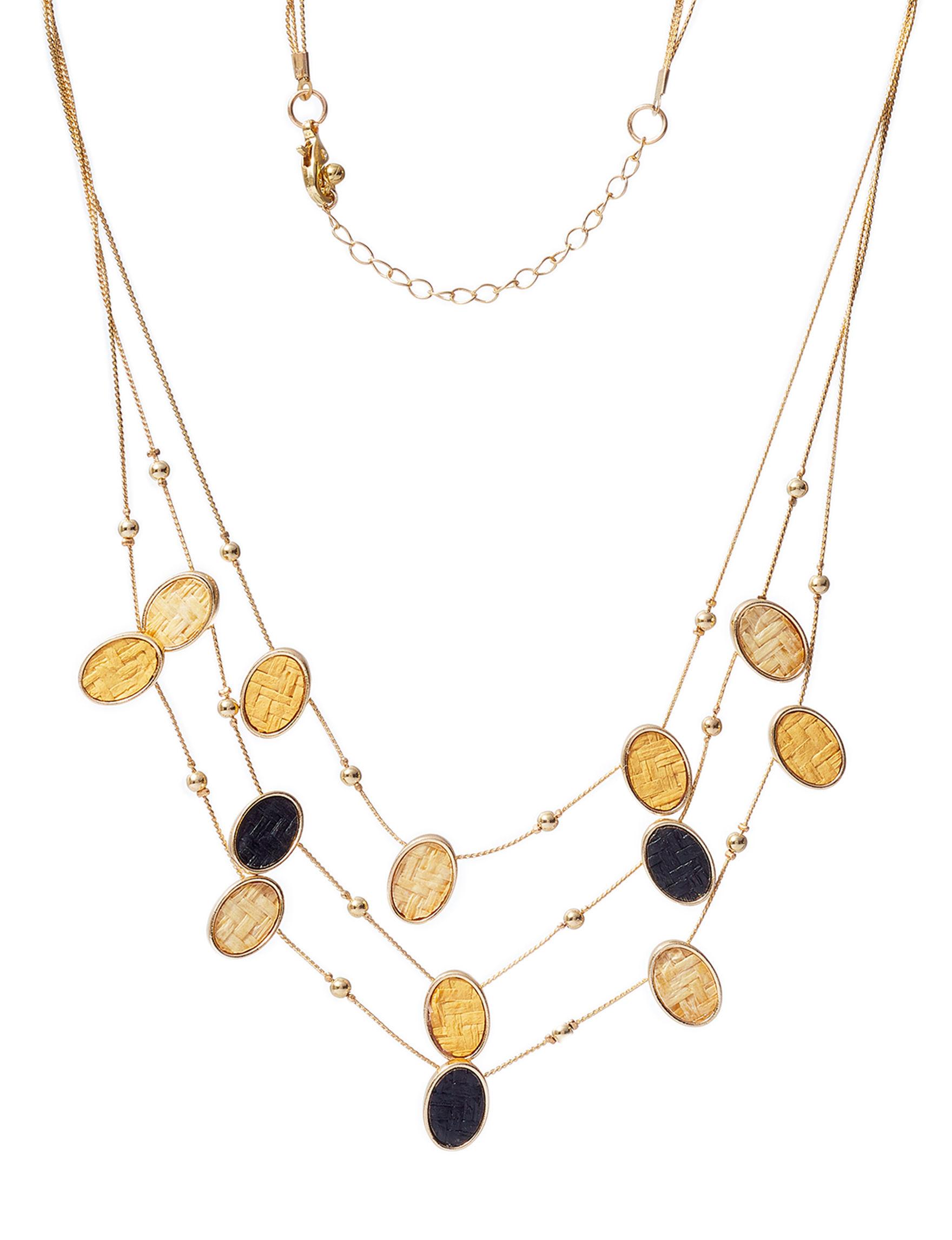 Hannah Gold / Black Fashion Jewelry