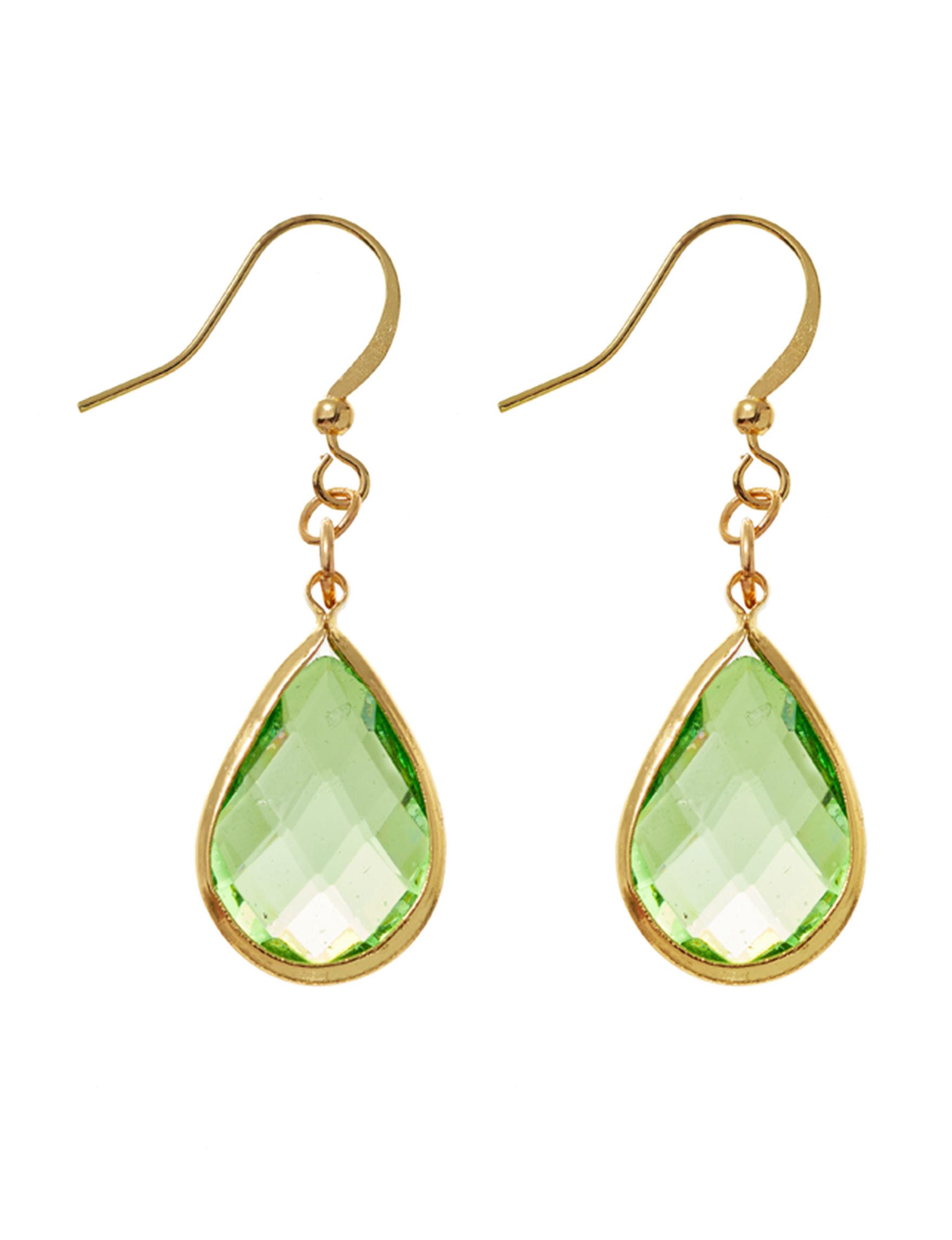 Hannah Green Drops Earrings Fashion Jewelry
