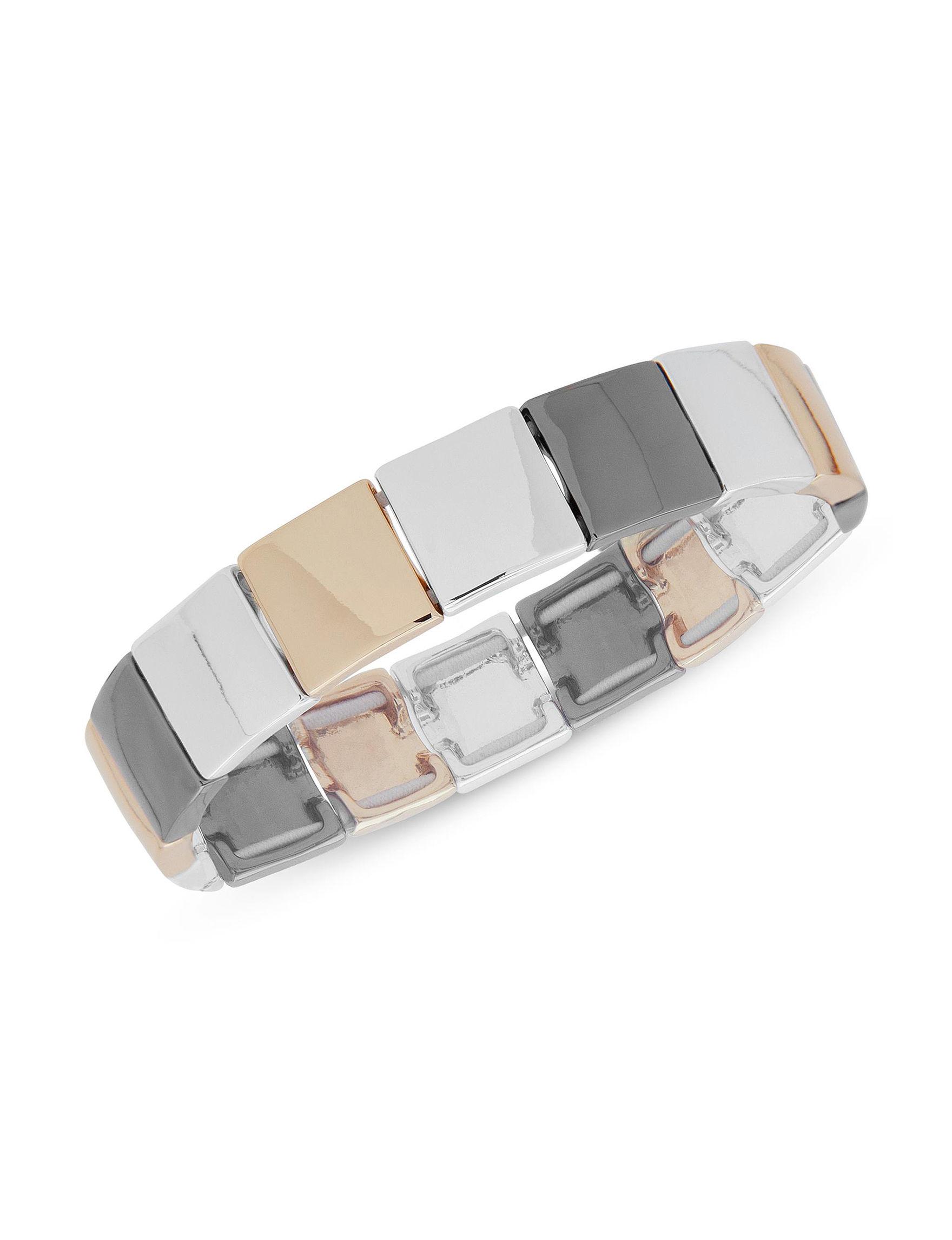 Nine West Tri Tone Bracelets Fashion Jewelry