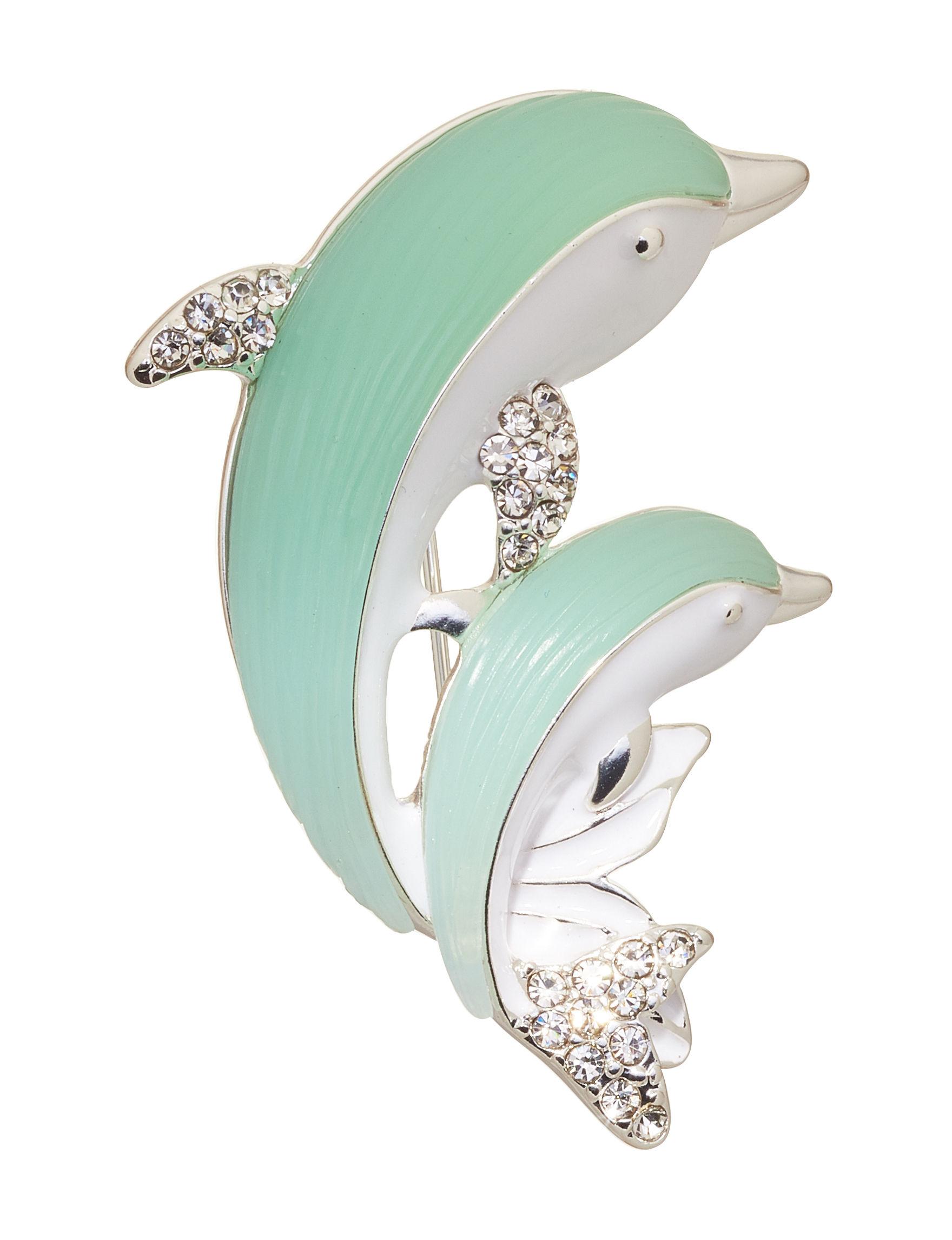 Napier Aqua / White Pins Fashion Jewelry