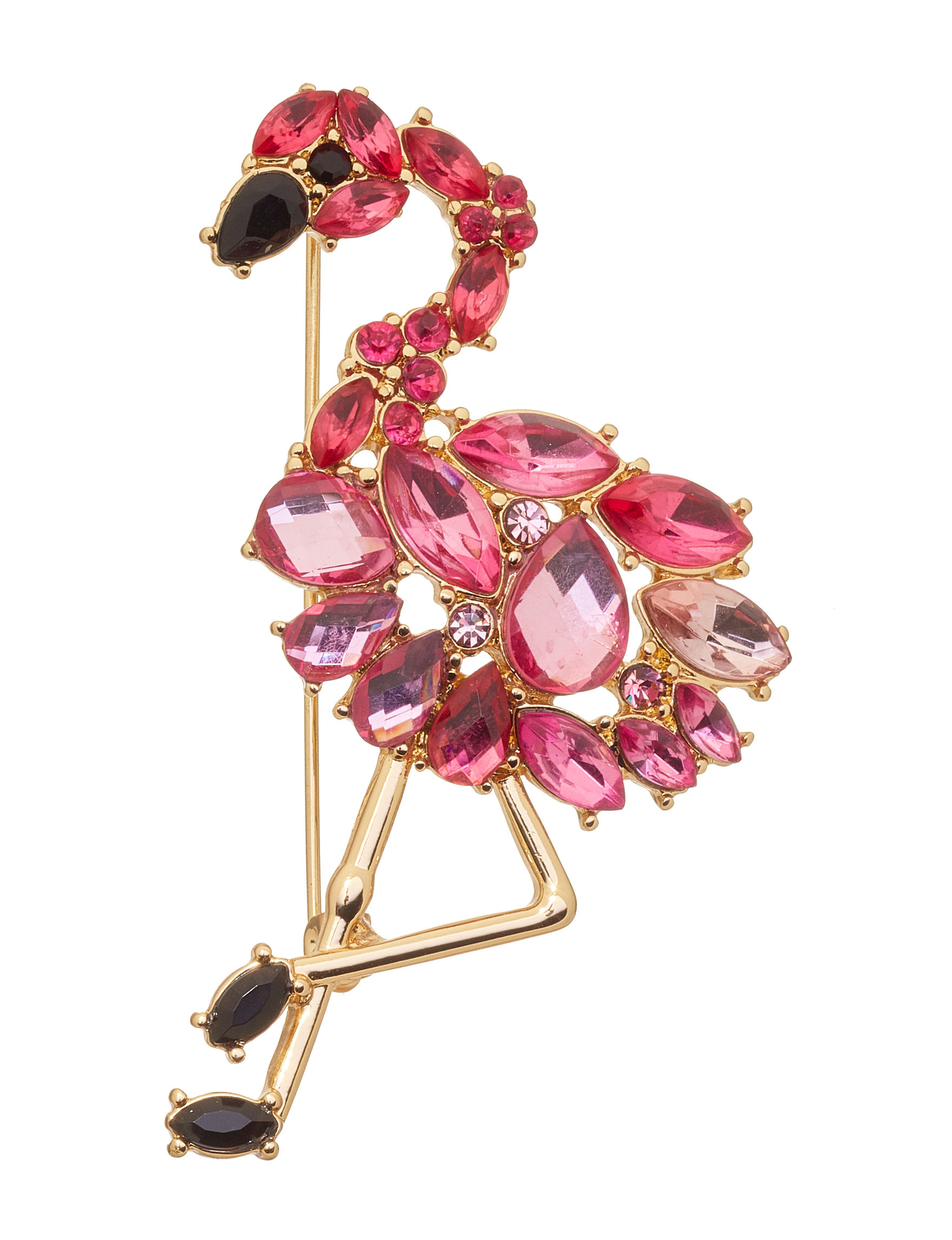 Napier Pink Crystal Pins Fashion Jewelry