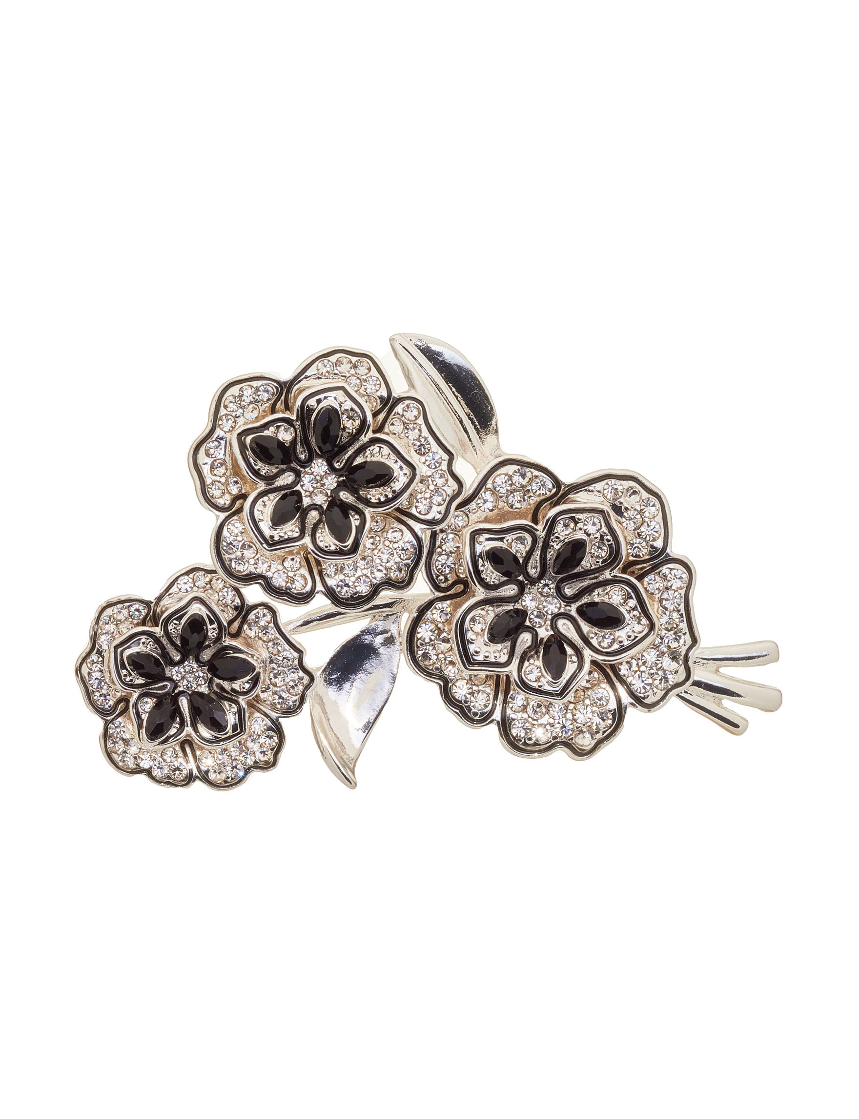 Napier Silver / Crystal Pins Fashion Jewelry