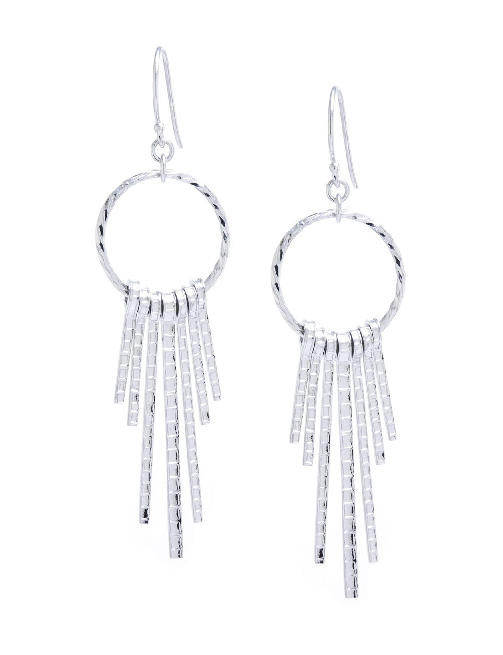 Athra Fine Silver Plated Drops Earrings Fine Jewelry