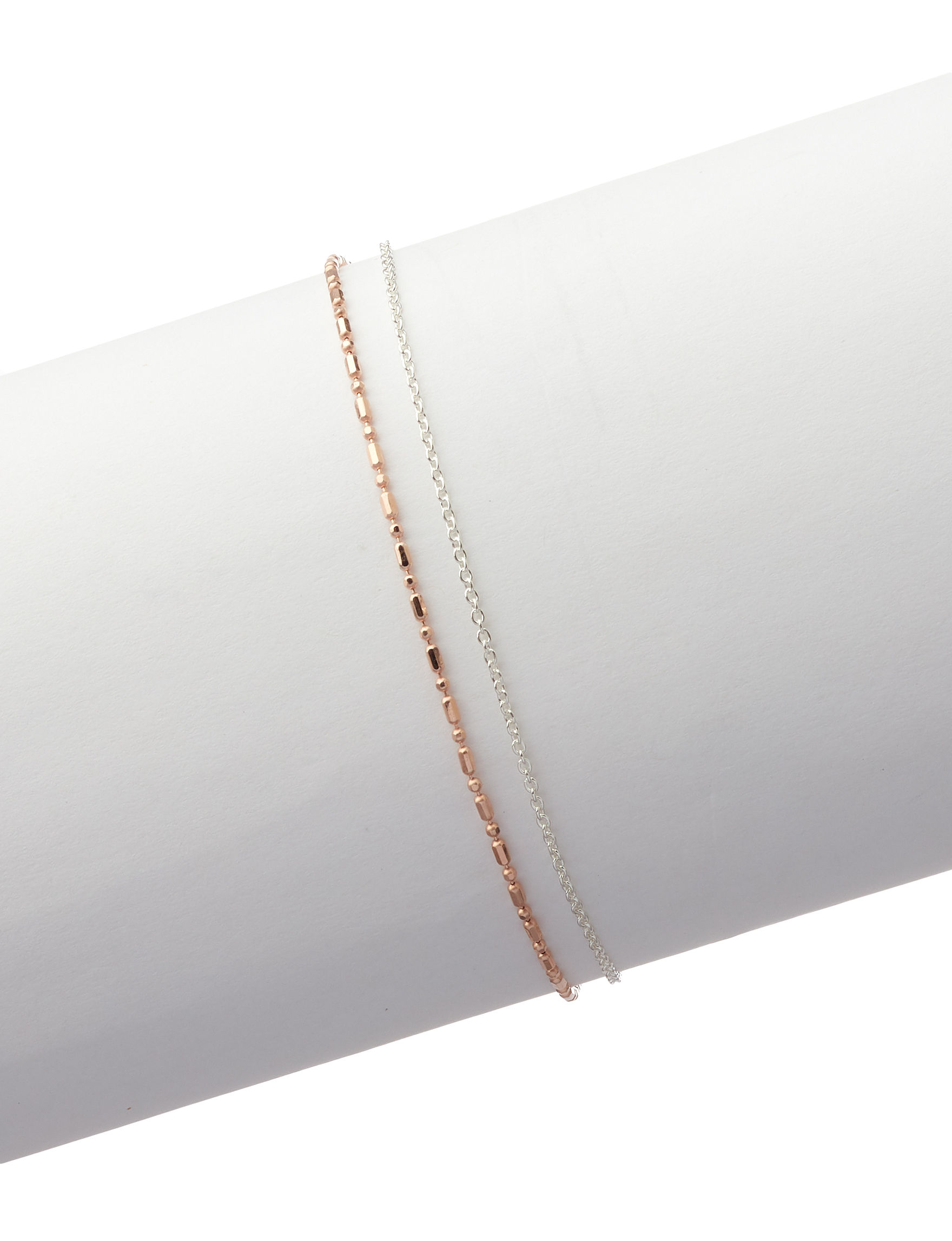 Marsala Two Tone Anklets Fine Jewelry