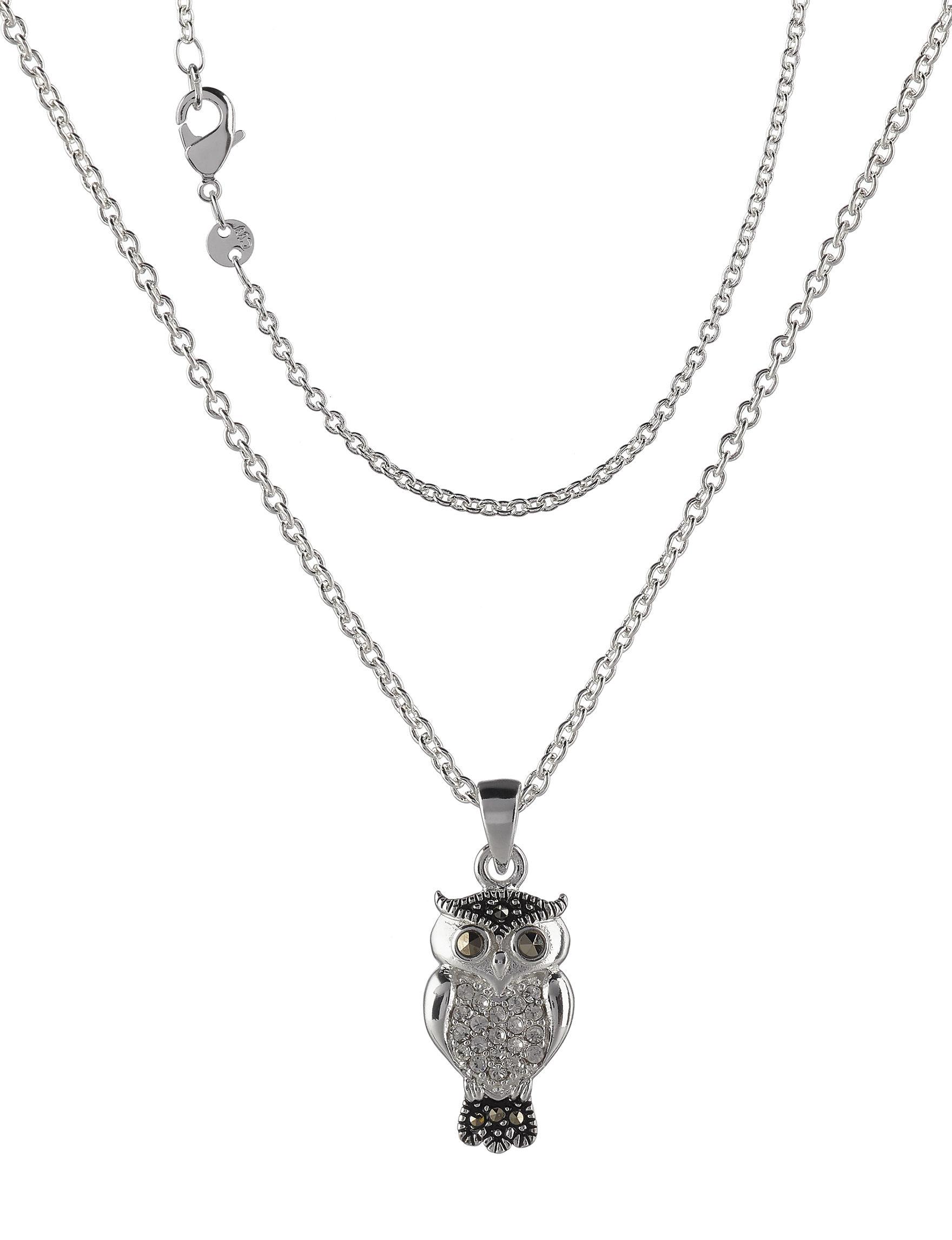Marsala Silver / Multi Necklaces & Pendants Fine Jewelry