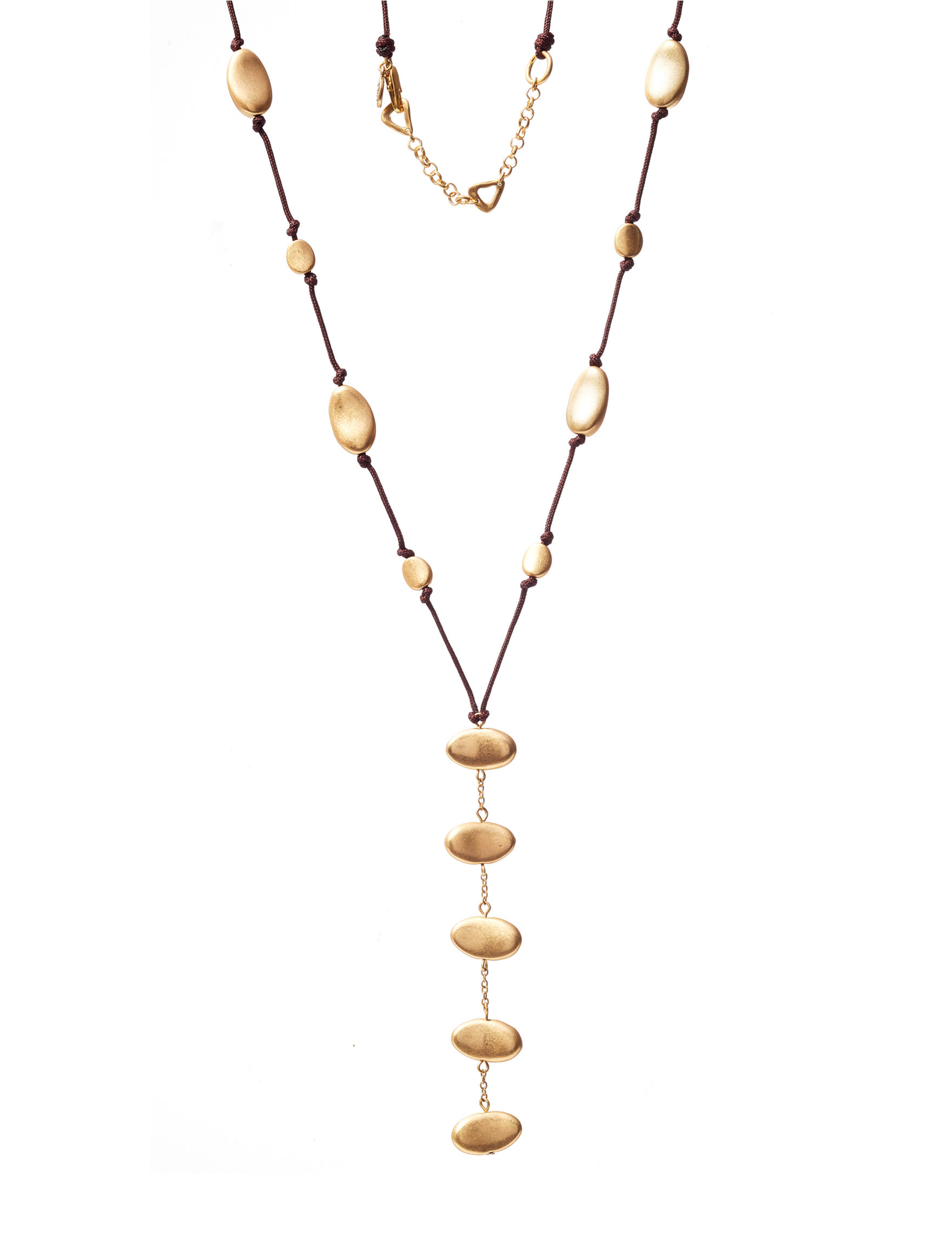 Bella Uno Gold / Black Necklaces & Pendants Fashion Jewelry