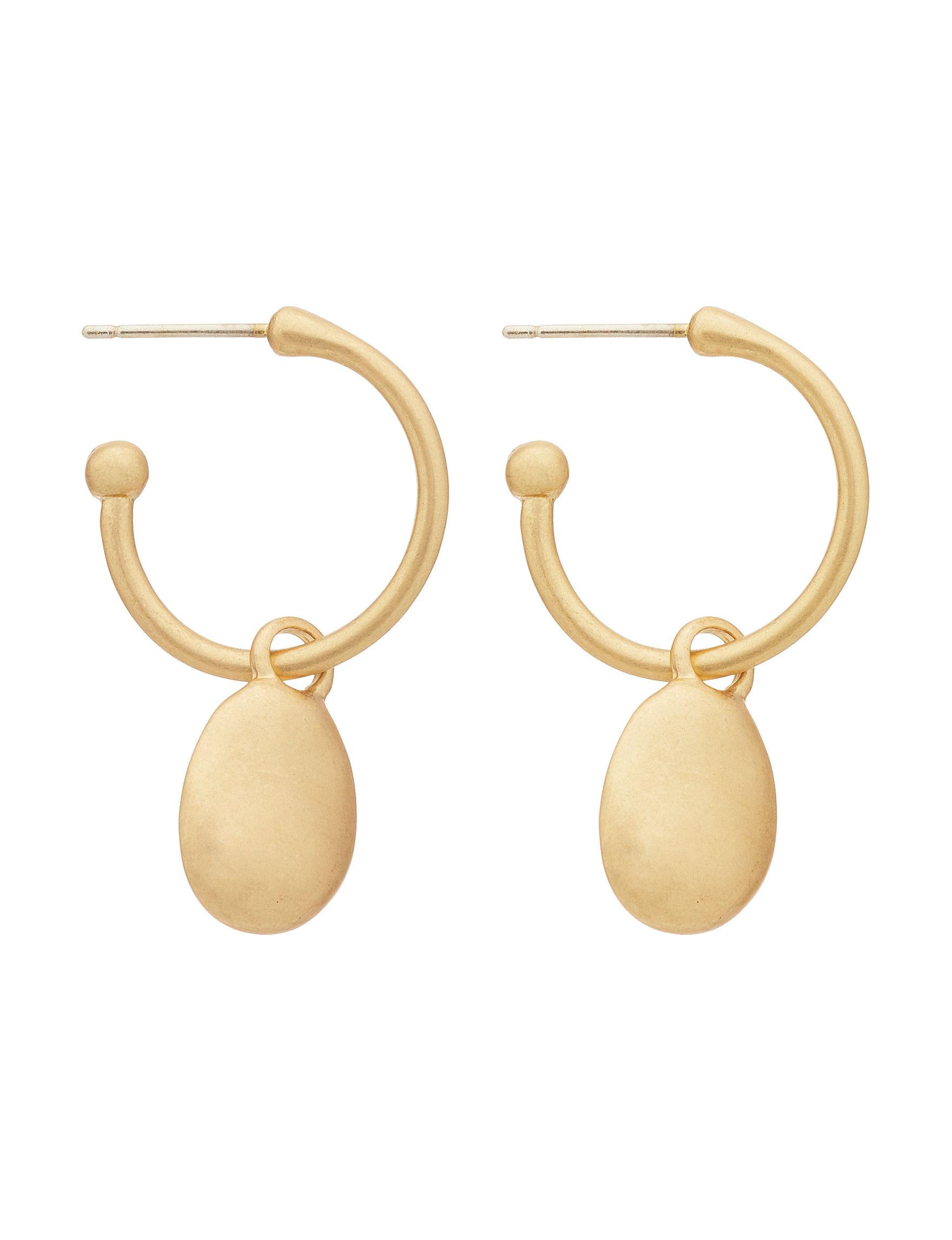 Bella Uno Gold Drops Earrings Fashion Jewelry