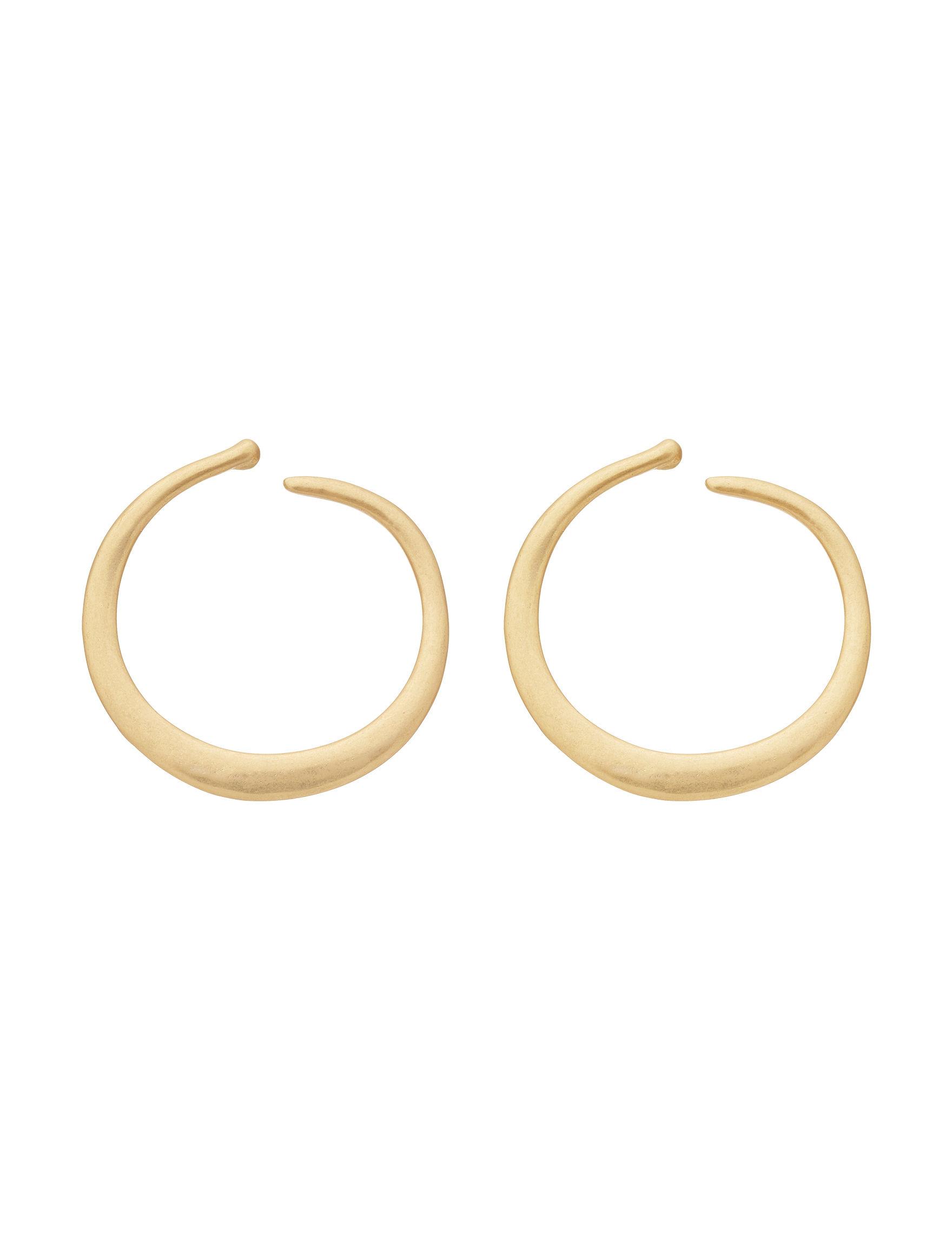 Bella Uno Gold Hoops Earrings Fashion Jewelry