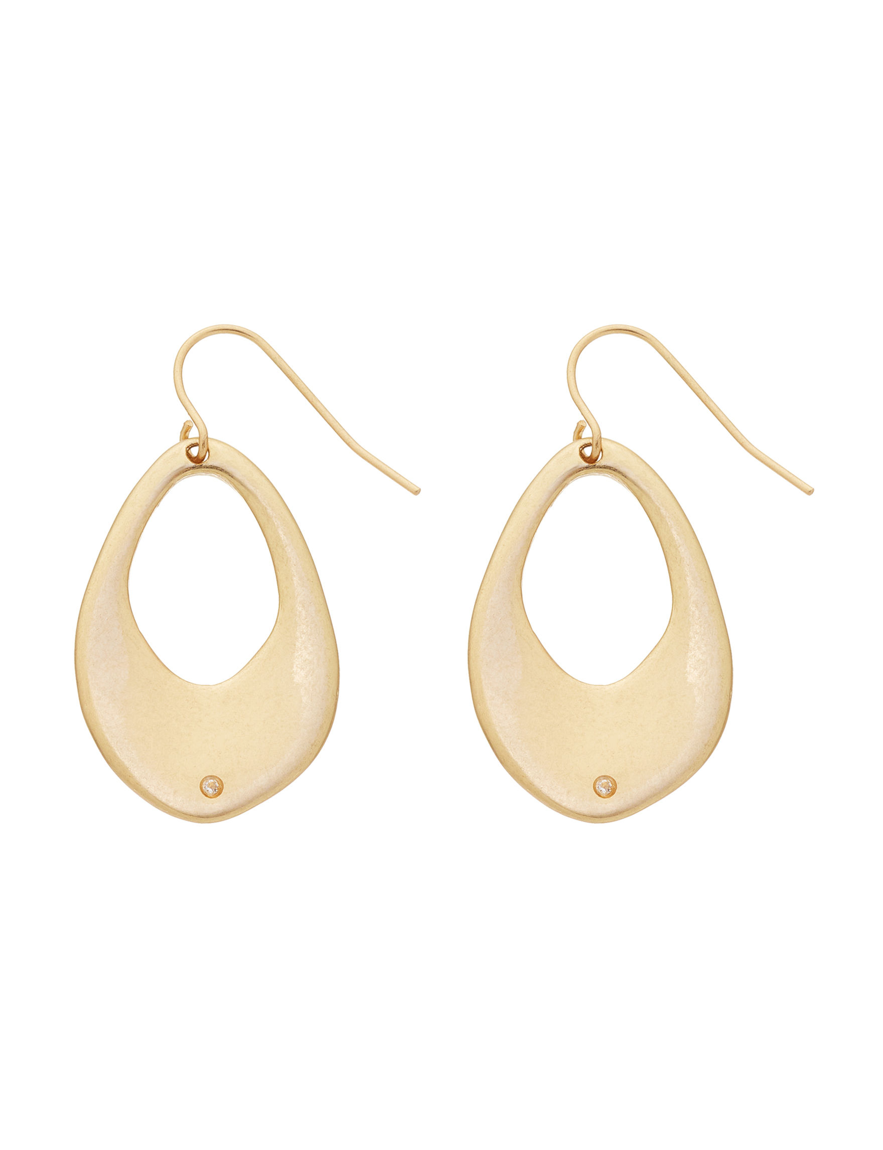 Bella Uno Gold Drops Earrings Fashion Jewelry