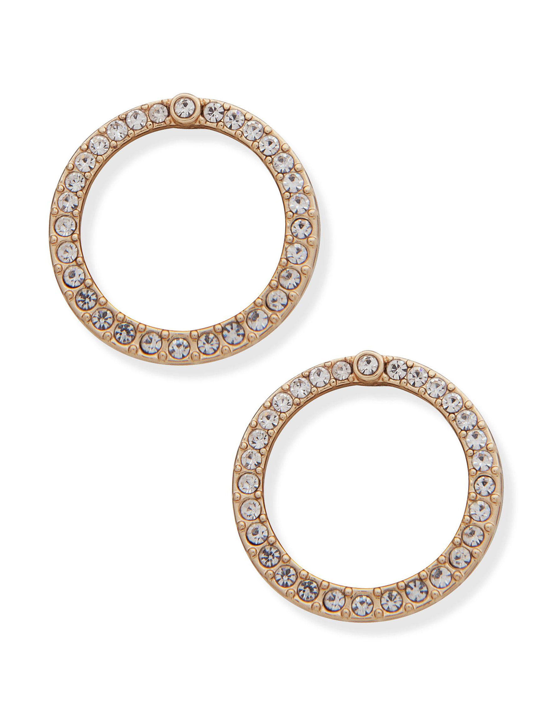 You're Invited Gold Hoops Earrings Fashion Jewelry