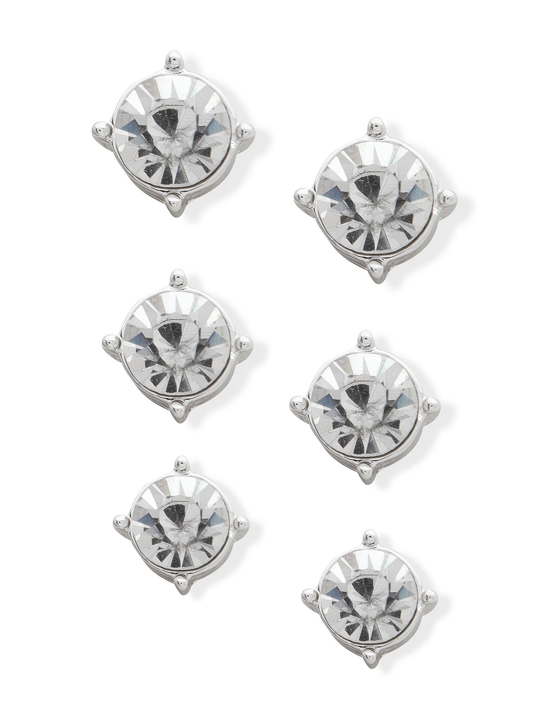 You're Invited Silver Studs Earrings Fashion Jewelry