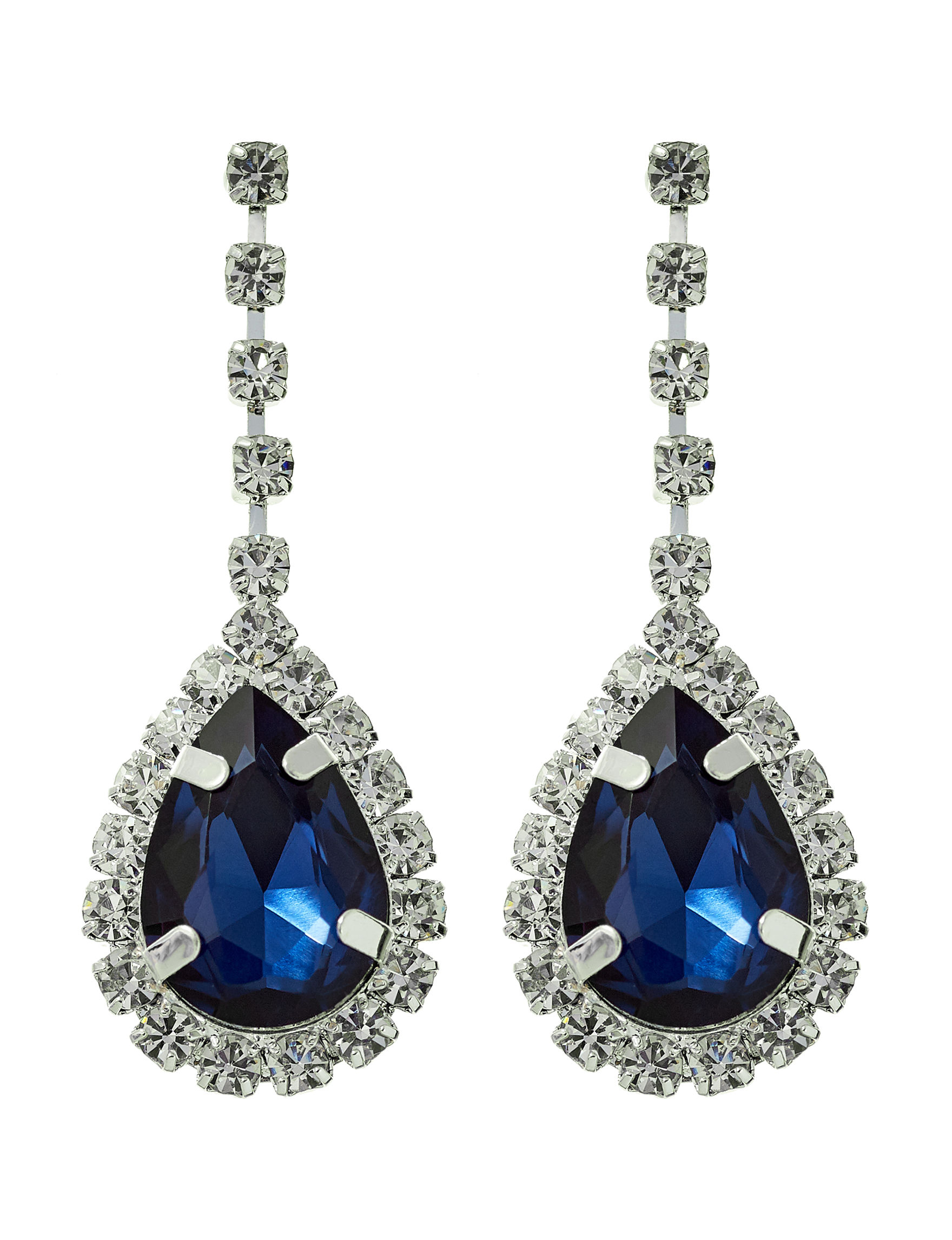 Via Roma Crystal Drops Earrings Fashion Jewelry