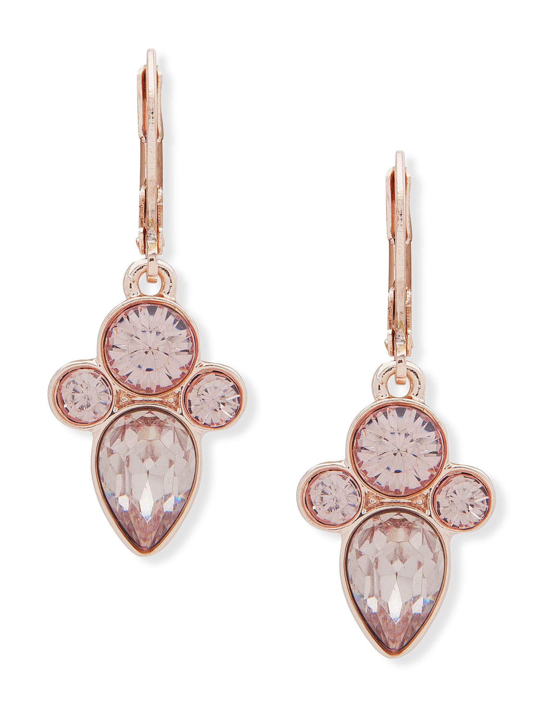 You're Invited Rose Gold / Pink Drops Earrings Fashion Jewelry