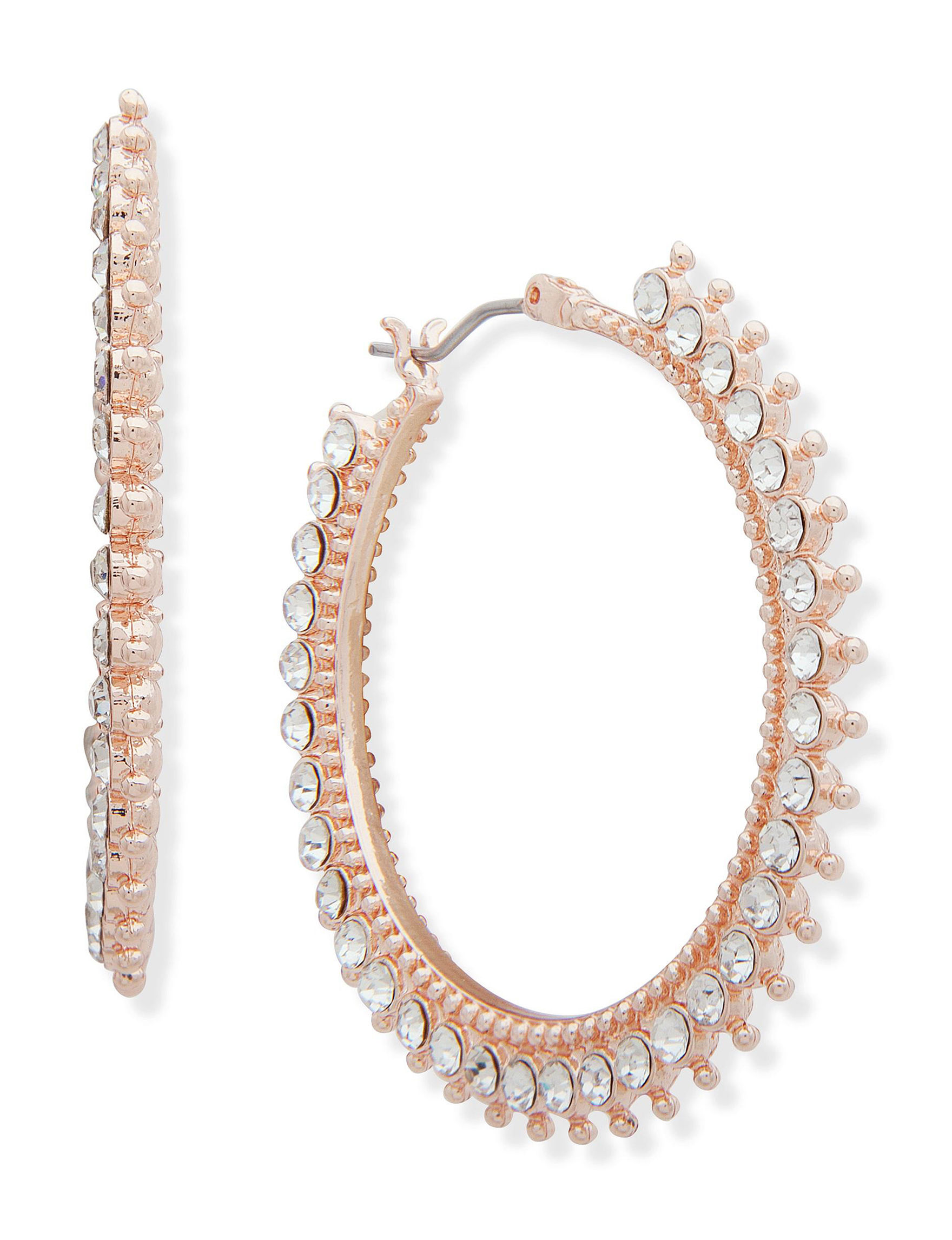 You're Invited Rose Gold Hoops Earrings Fashion Jewelry