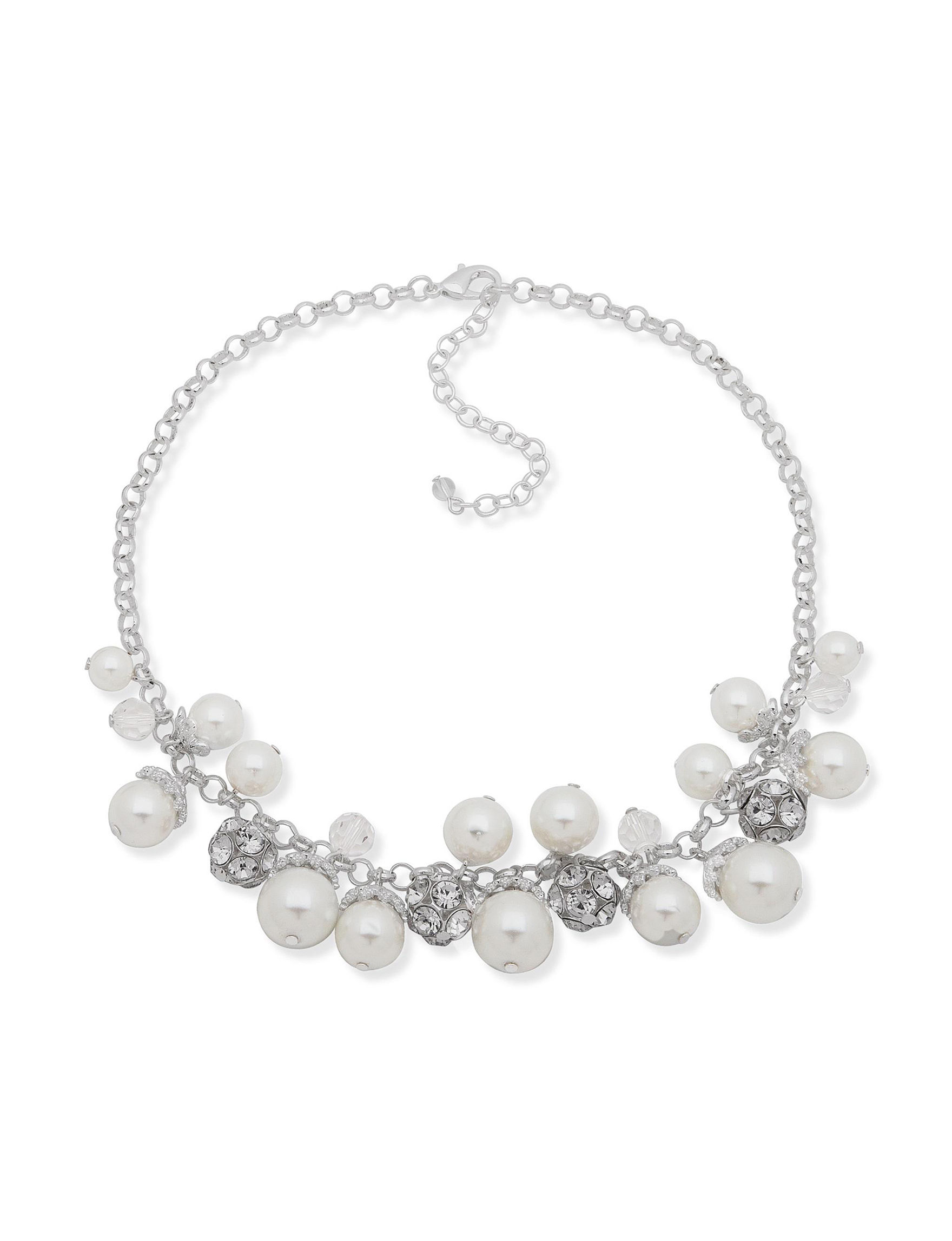 You're Invited Silver / White Necklaces & Pendants Fashion Jewelry