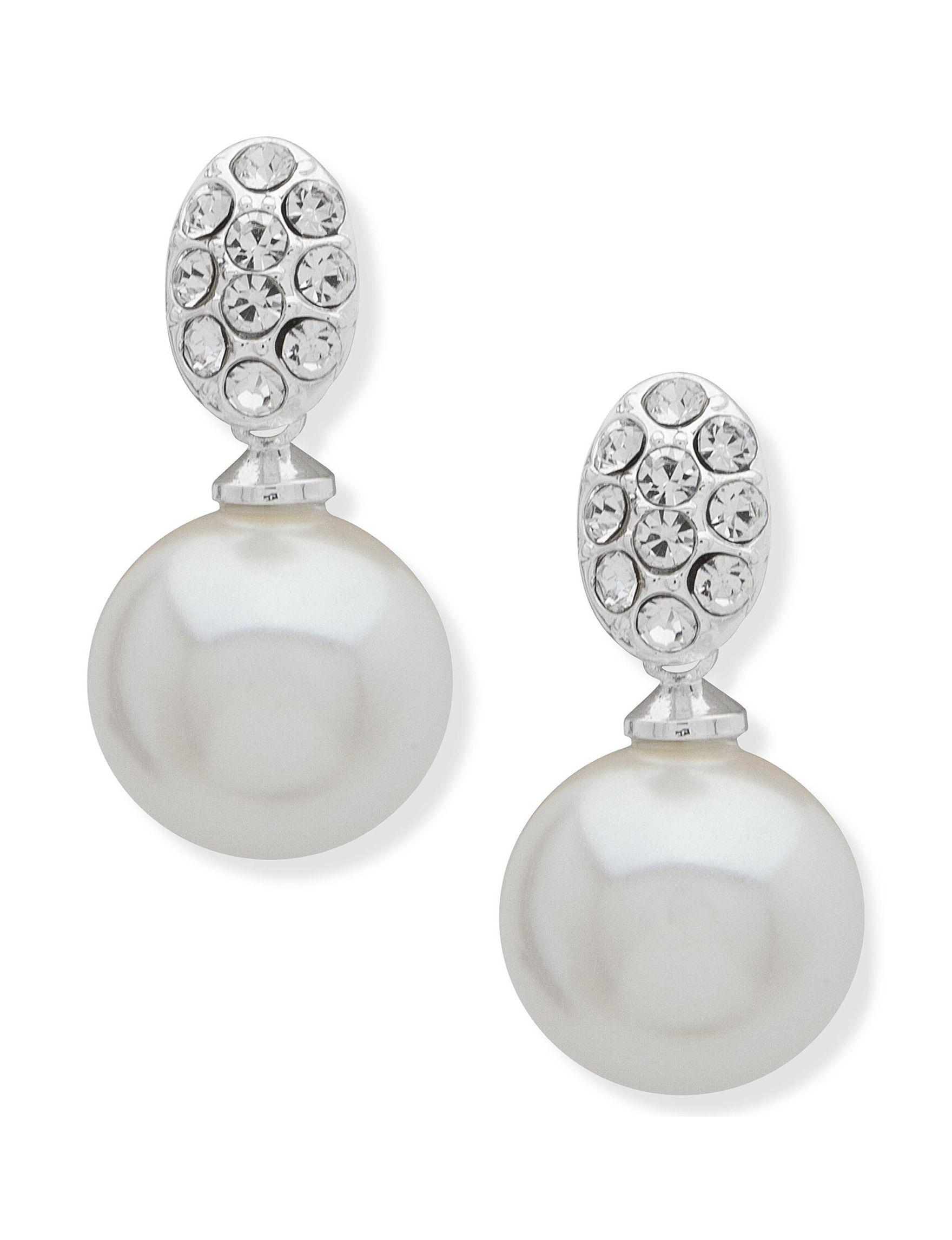 You're Invited Silver / White Drops Fashion Jewelry