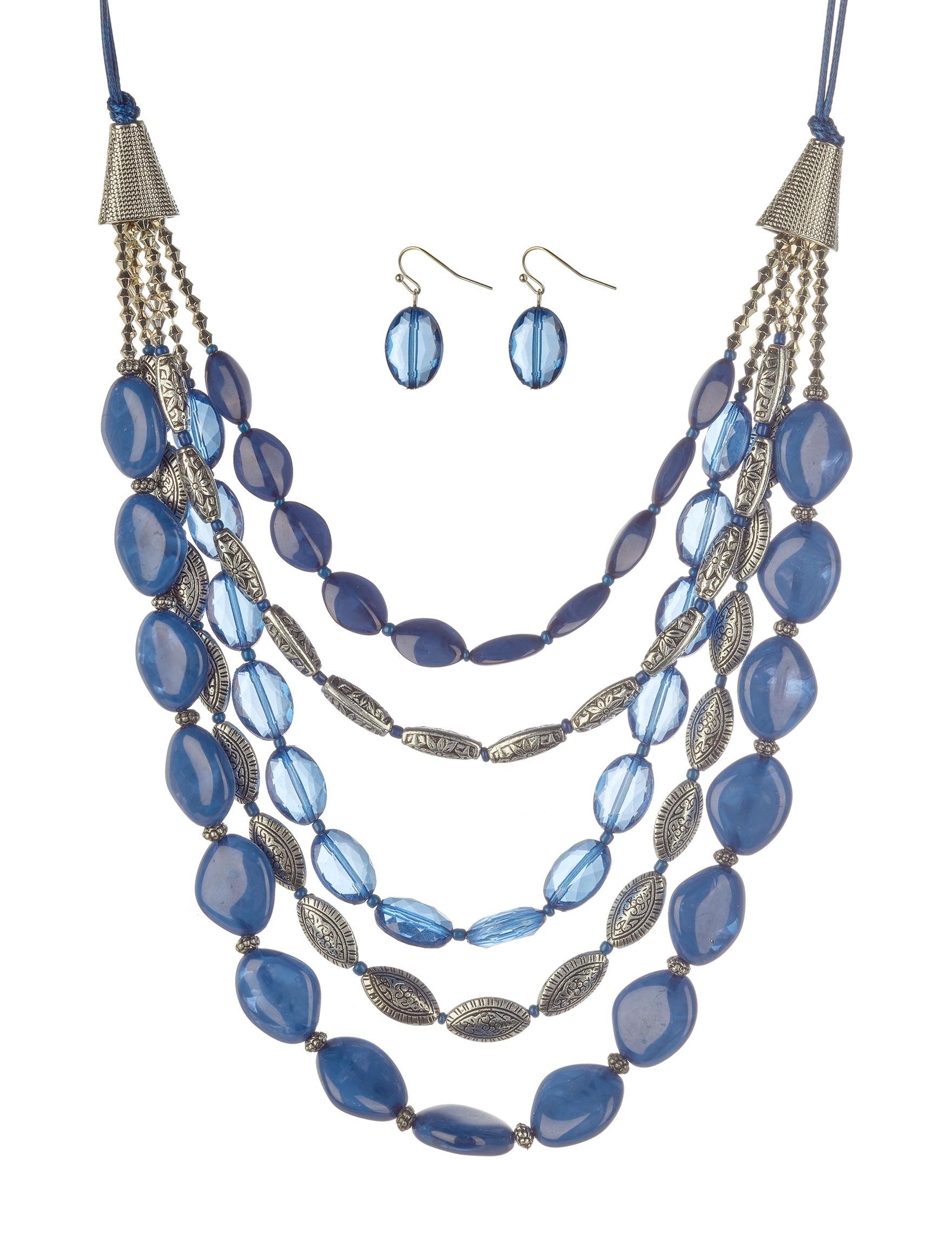 Hannah Blue Multi Jewelry Sets Fashion Jewelry