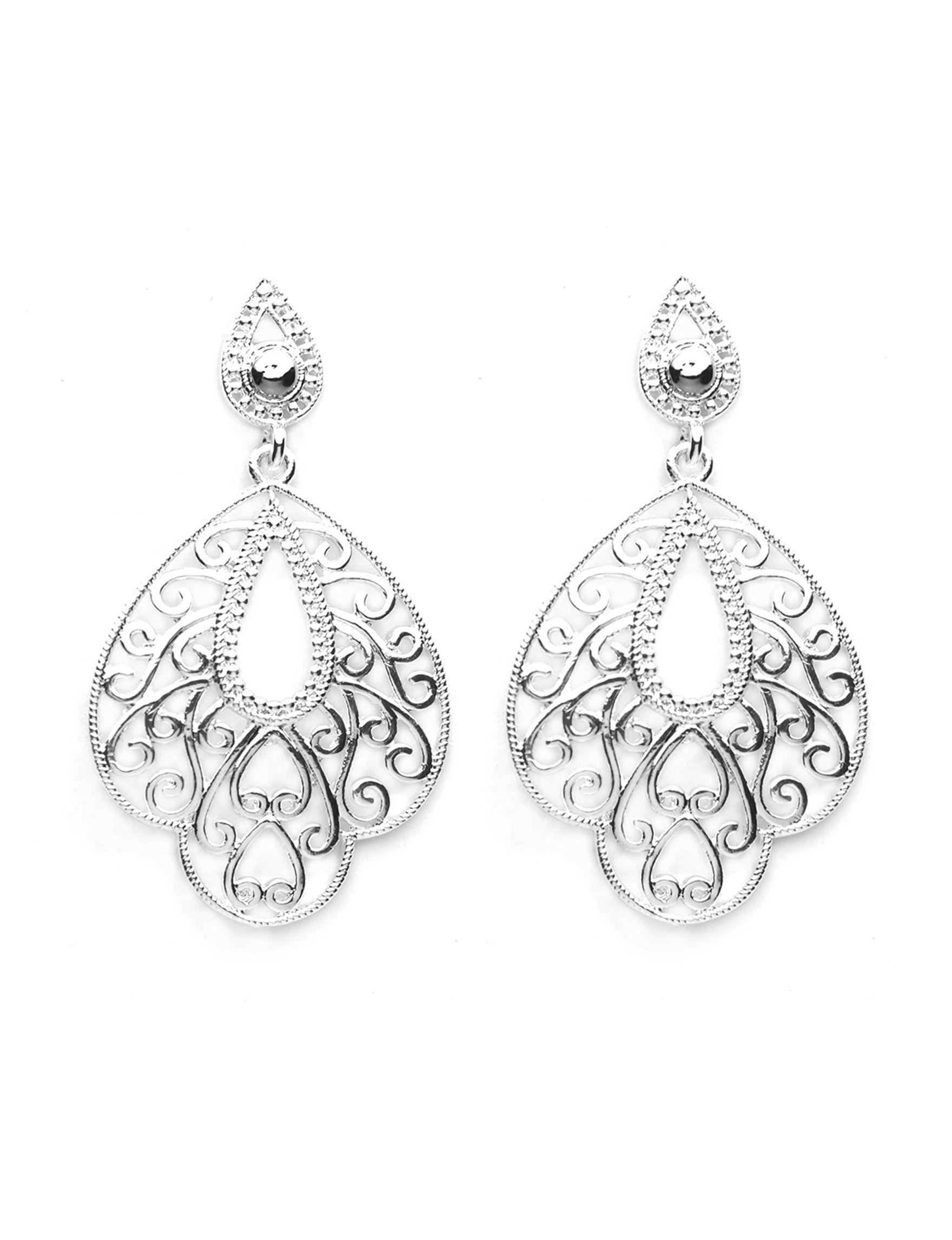 Danecraft Silver Drops Earrings Fine Jewelry