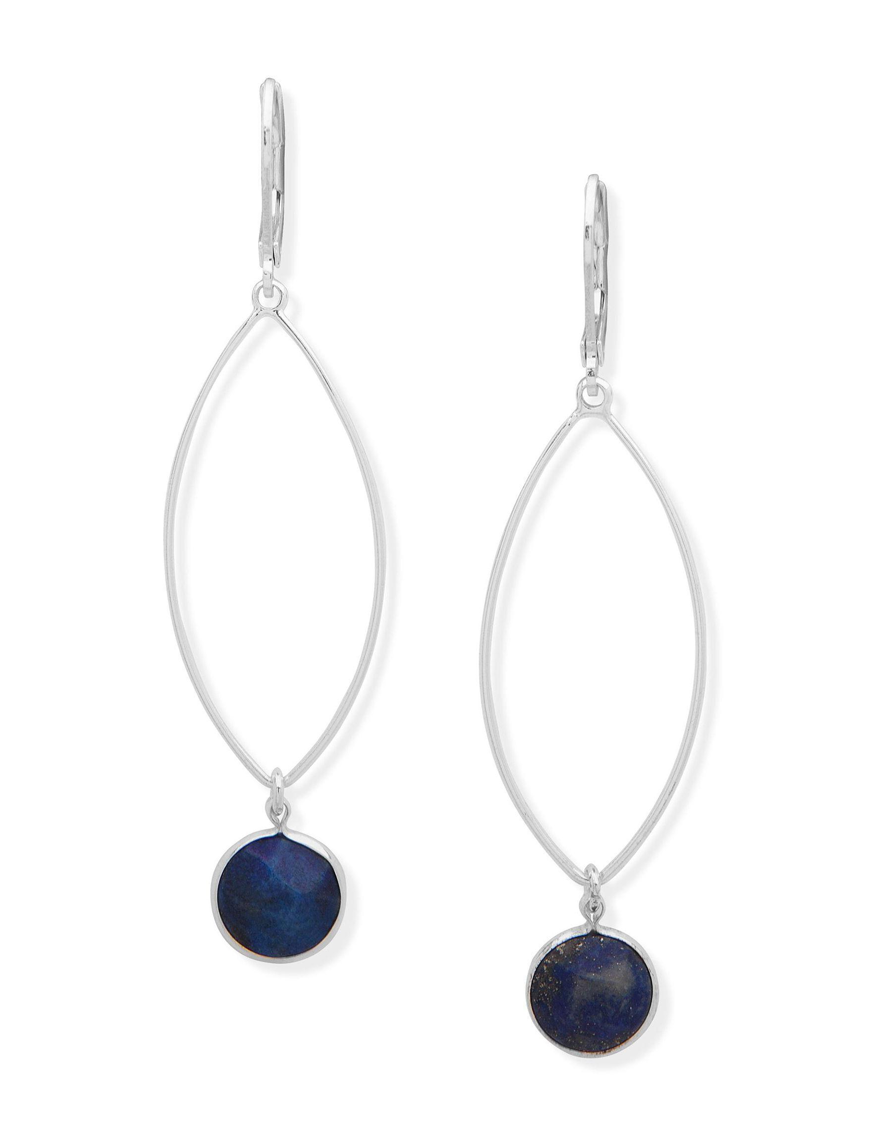 Chaps Navy Drops Earrings Fashion Jewelry
