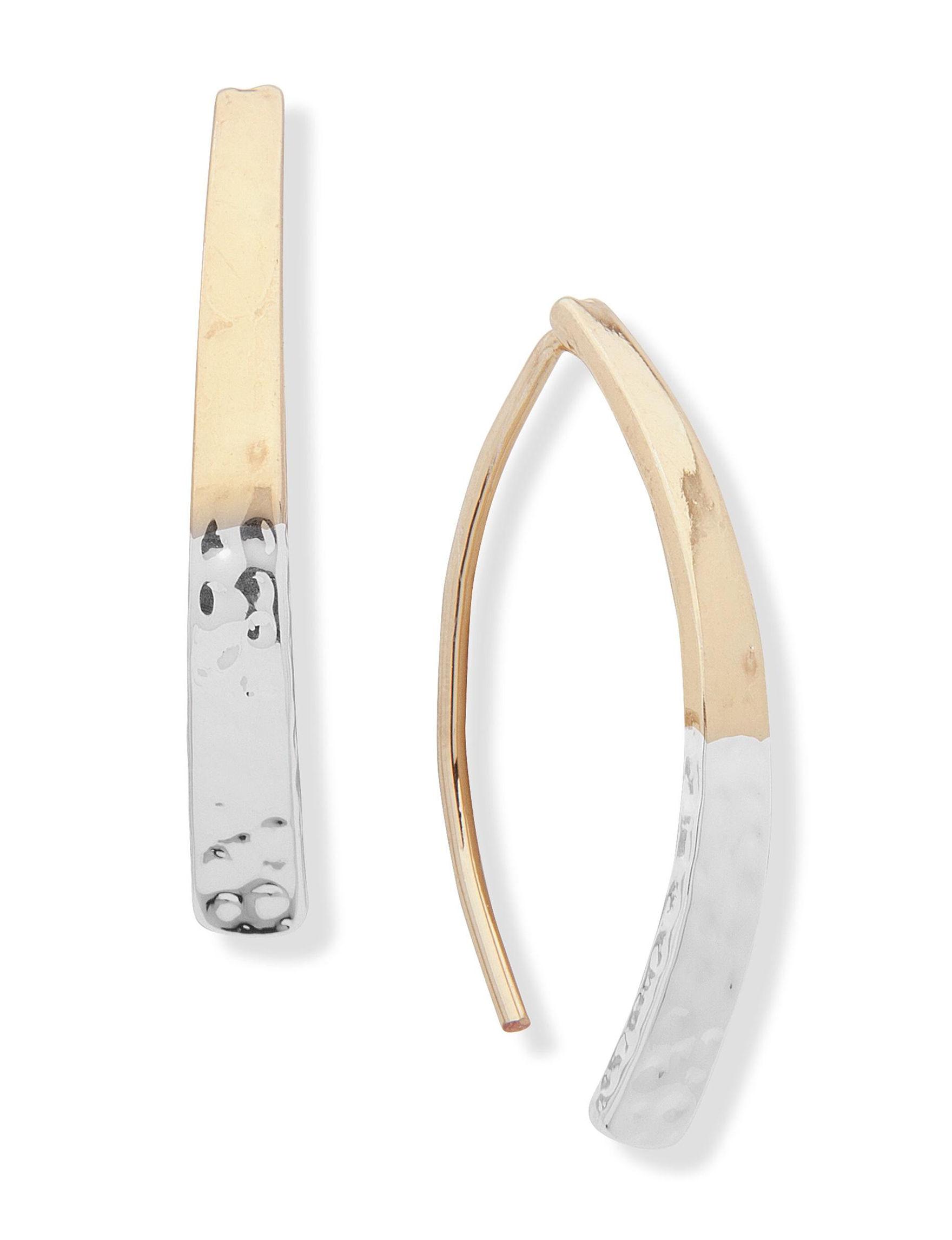 Chaps Silver / Gold Drops Earrings Fashion Jewelry