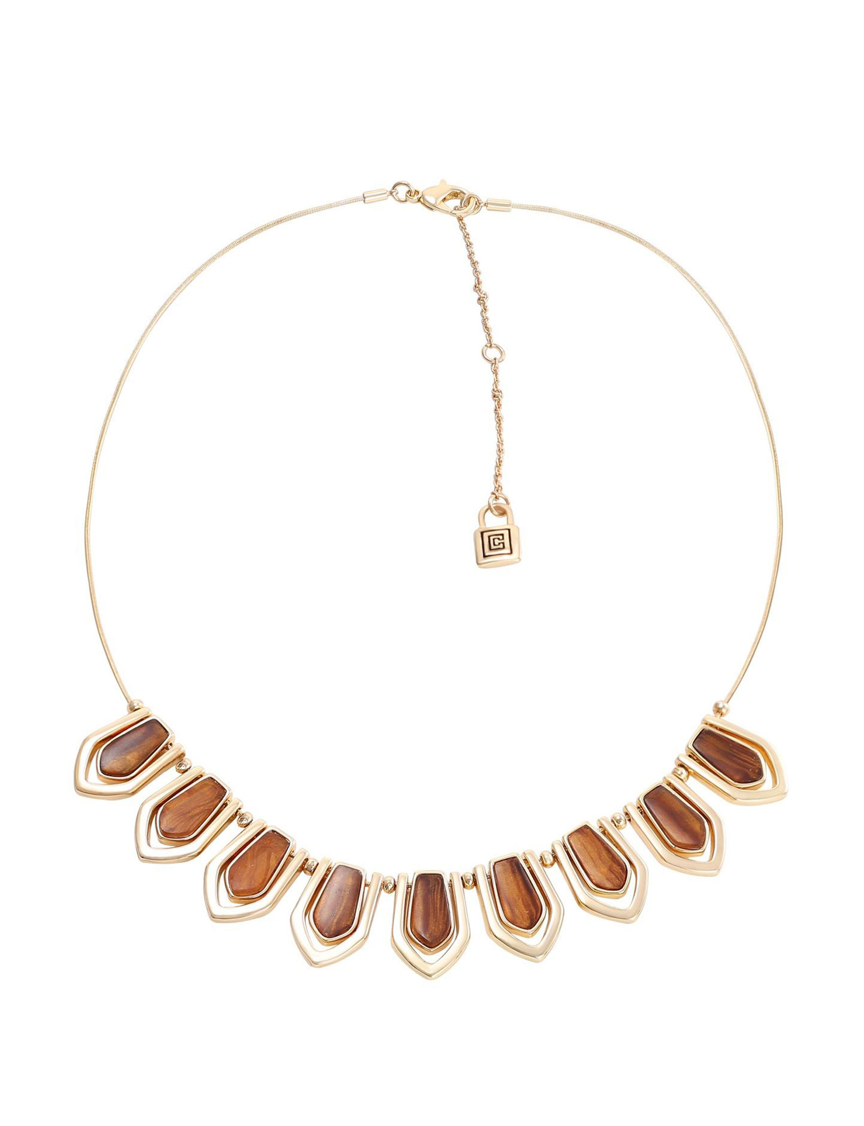 Chaps Tiger Eye - Brown Necklaces & Pendants Fashion Jewelry