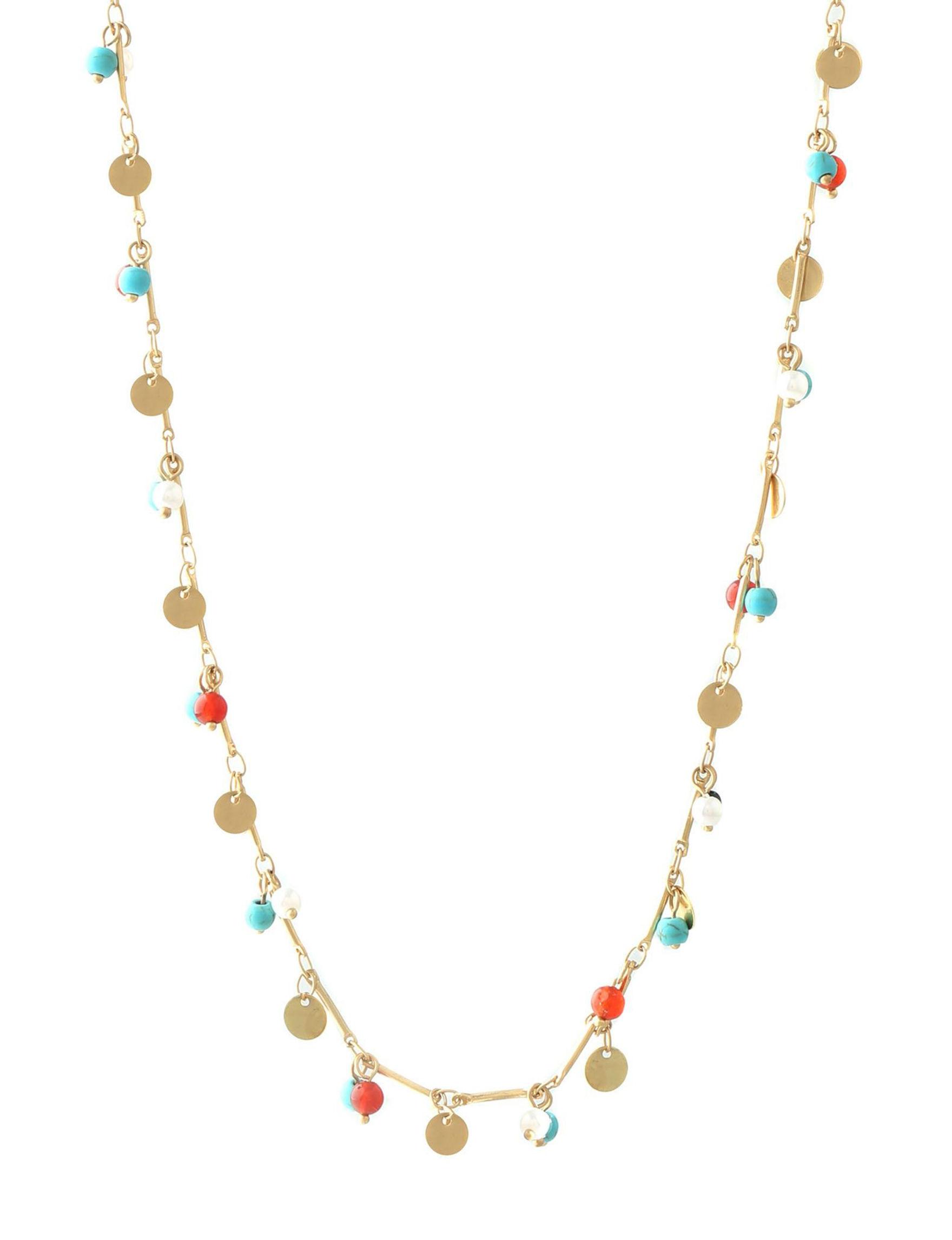 Chaps Gold / Multi Necklaces & Pendants Fashion Jewelry