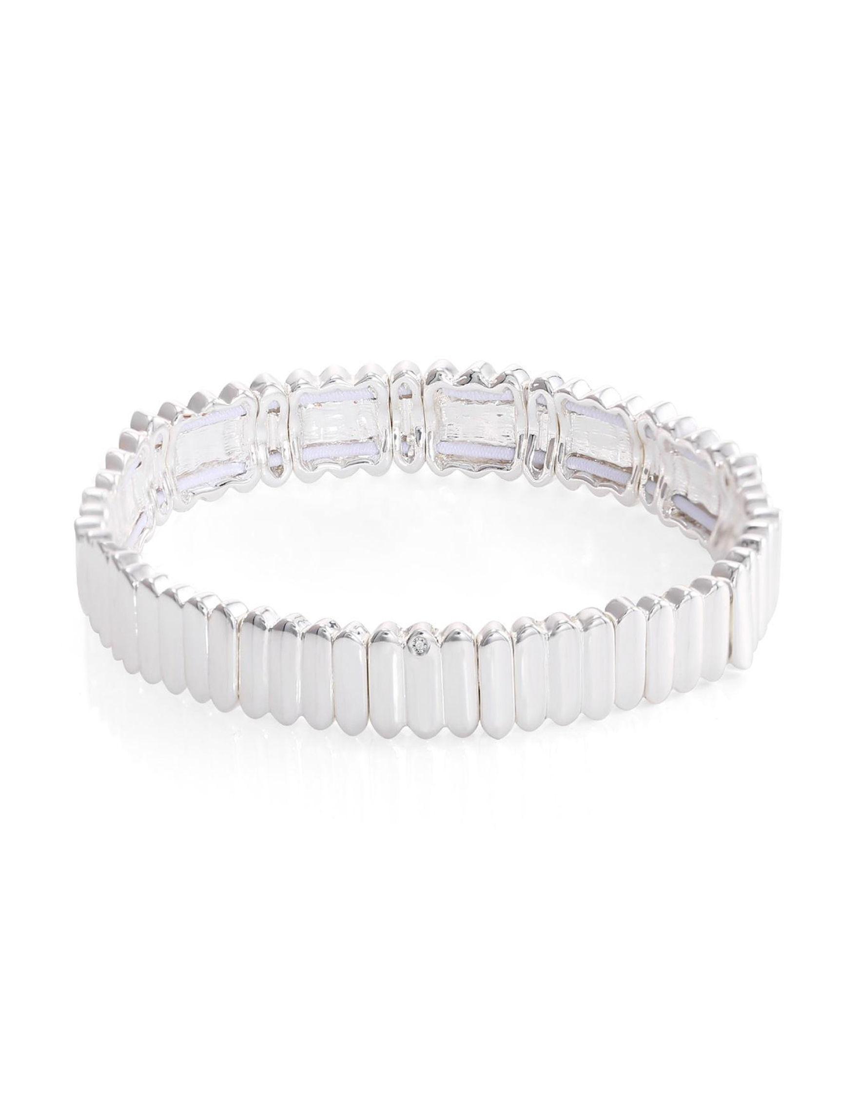 Chaps Silver Bracelets Fashion Jewelry