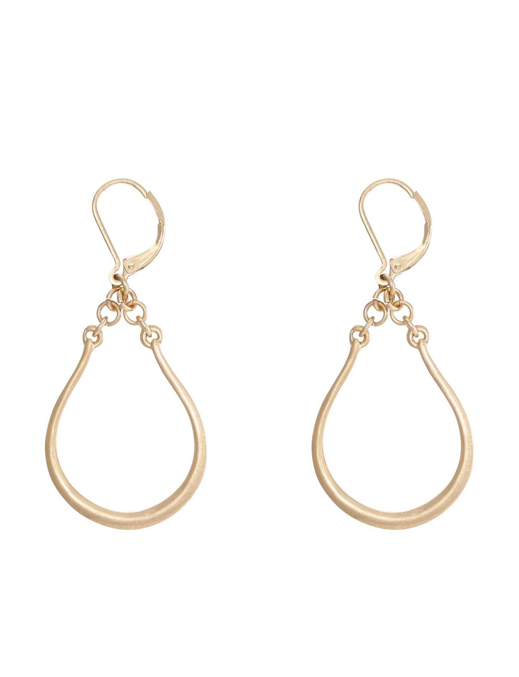 Chaps Gold Drops Earrings Fashion Jewelry