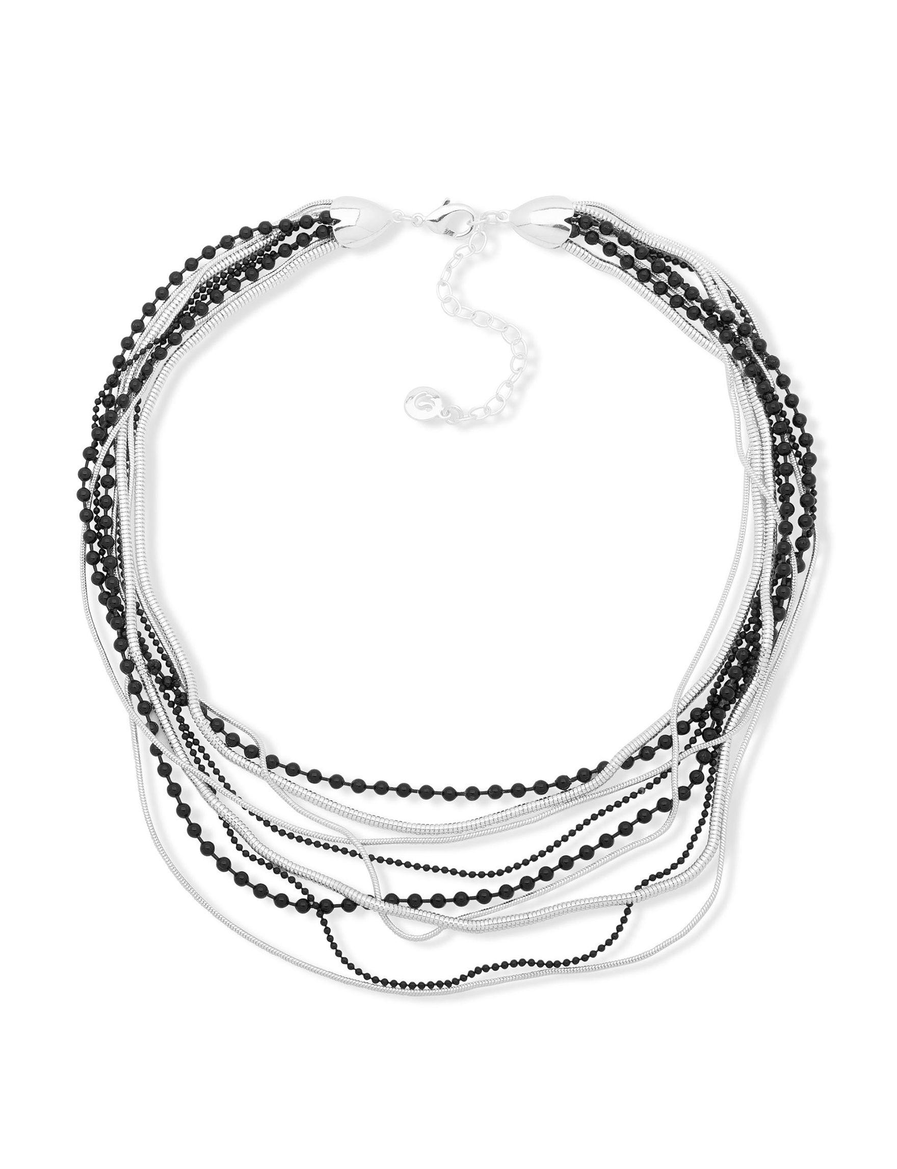 Gloria Vanderbilt Silver / Black Necklaces & Pendants Fashion Jewelry