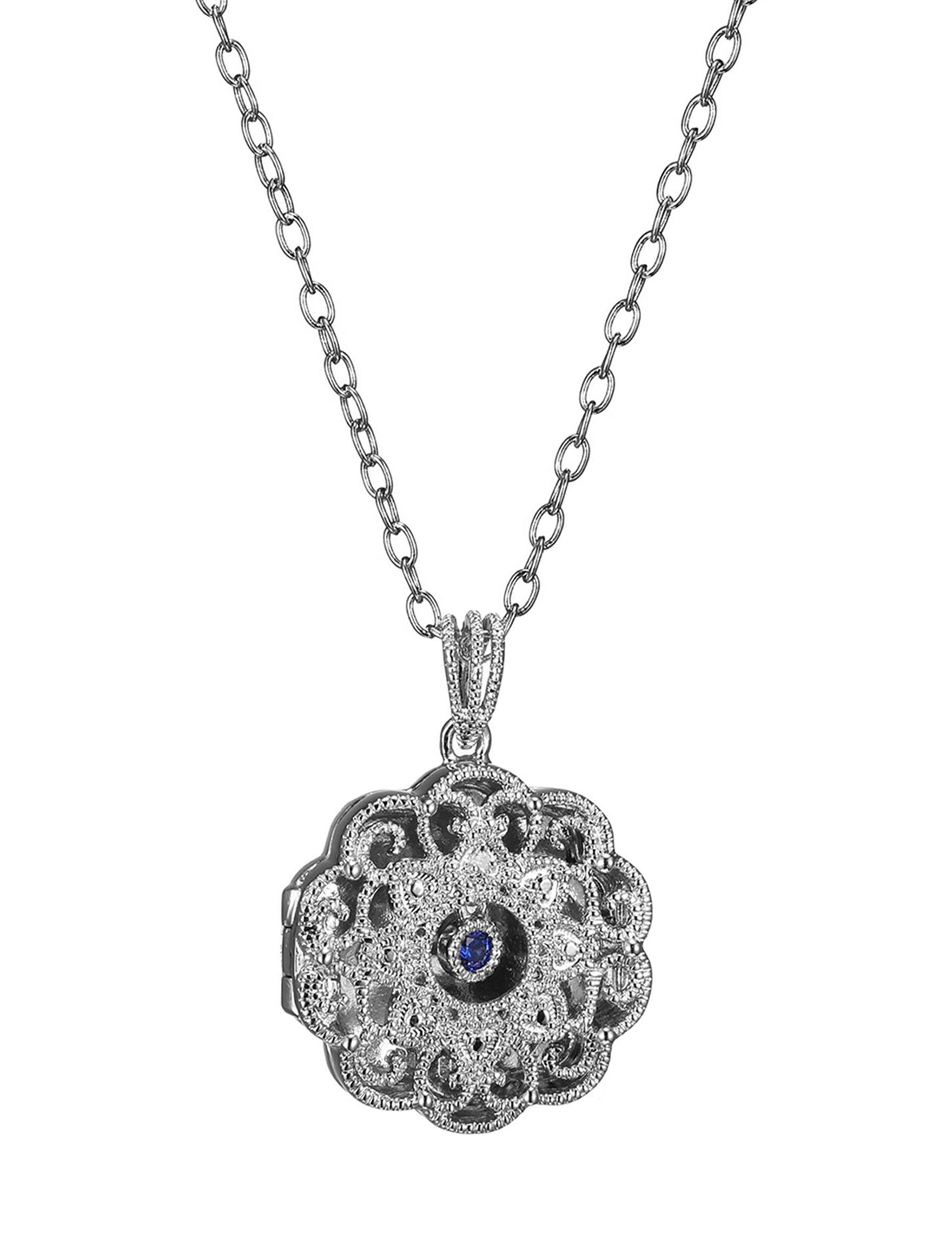 PAJ INC. Blue Crystal Necklaces & Pendants Fine Jewelry