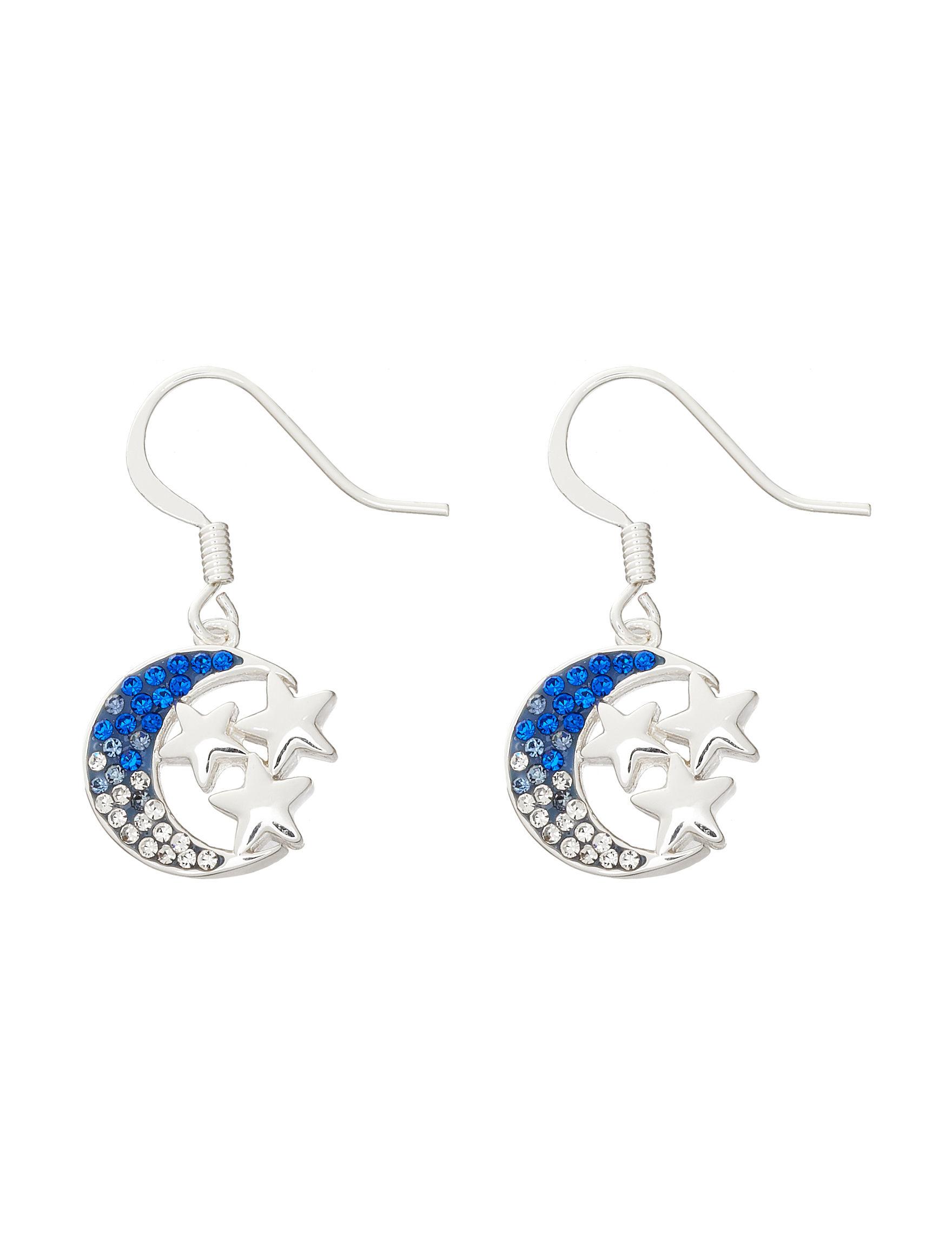 Marsala Blue Multi Drops Earrings Fine Jewelry