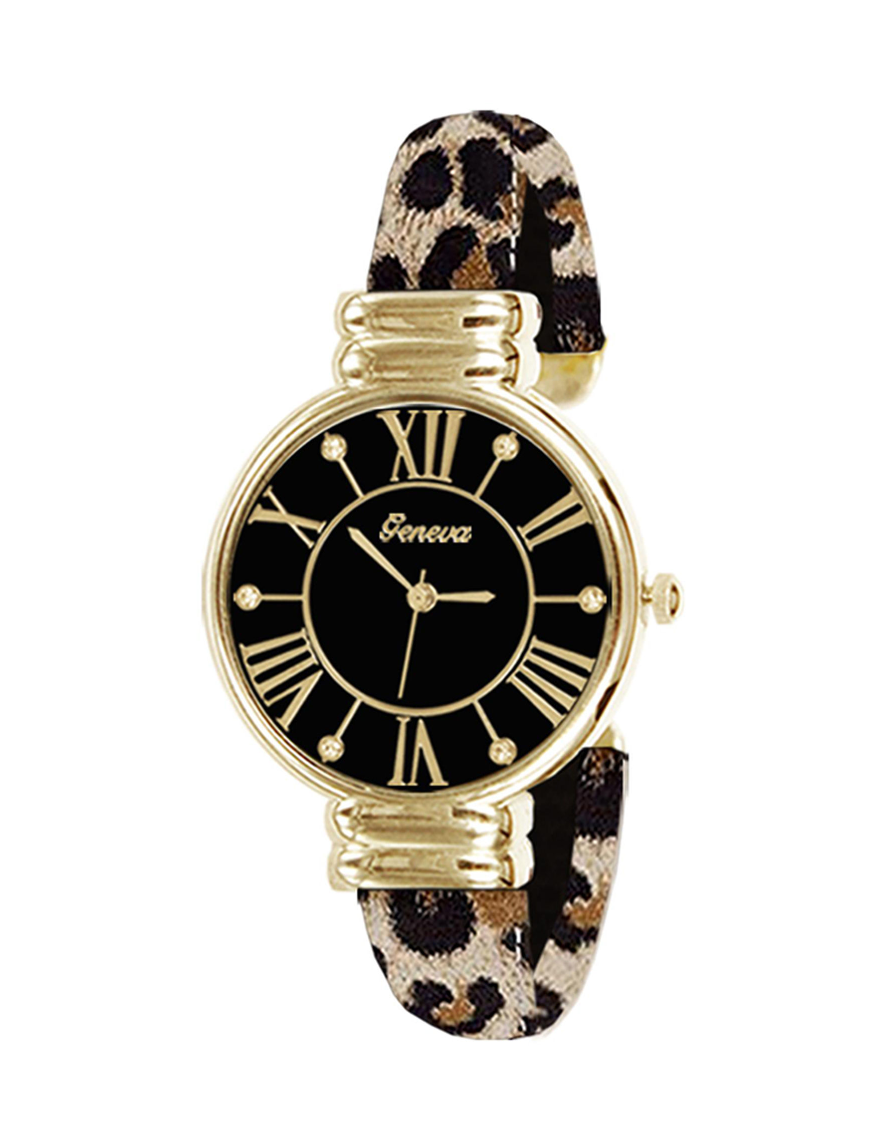 Global Time Black / Gold Fashion Watches