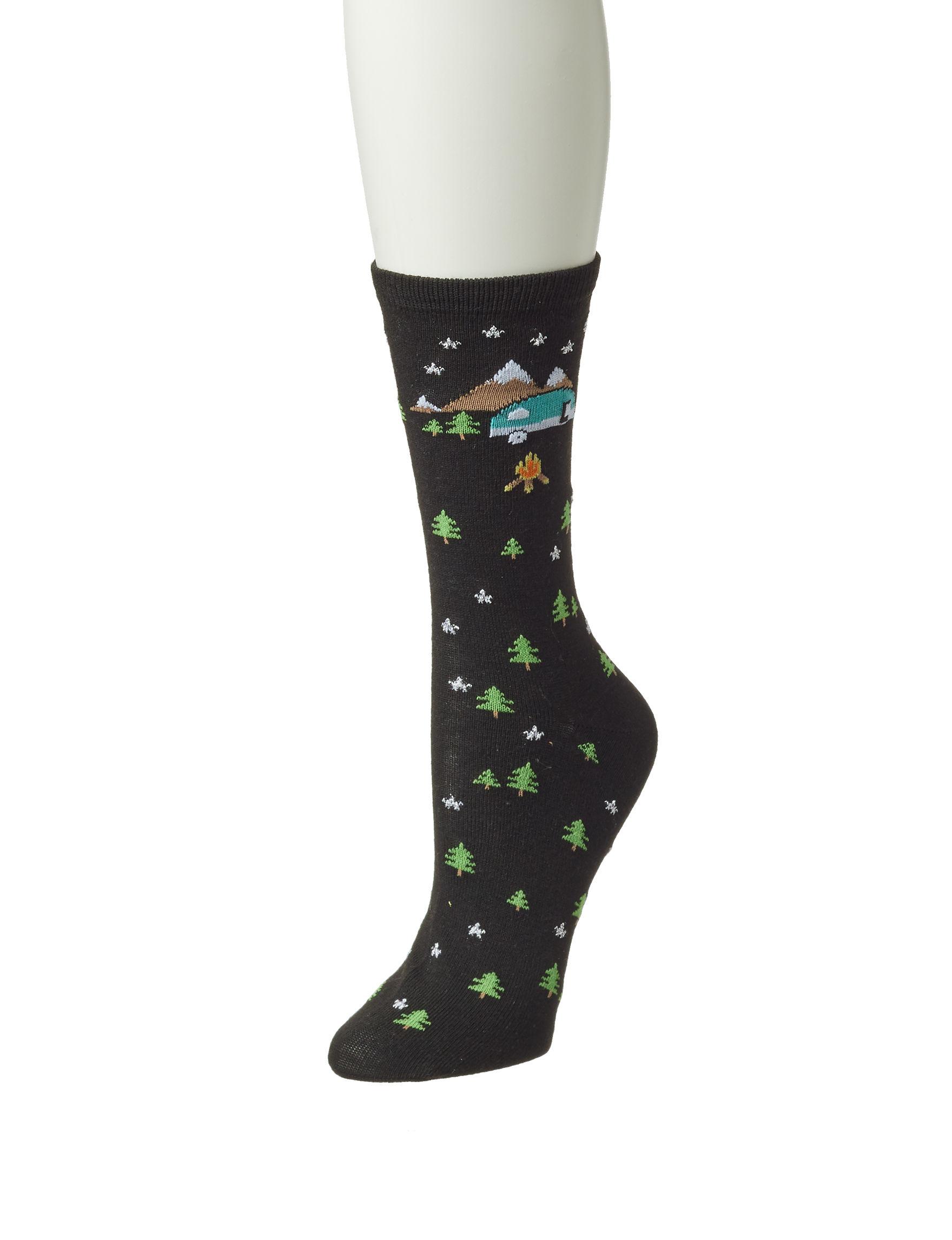 Keep Your Socks On Black / Multi Socks