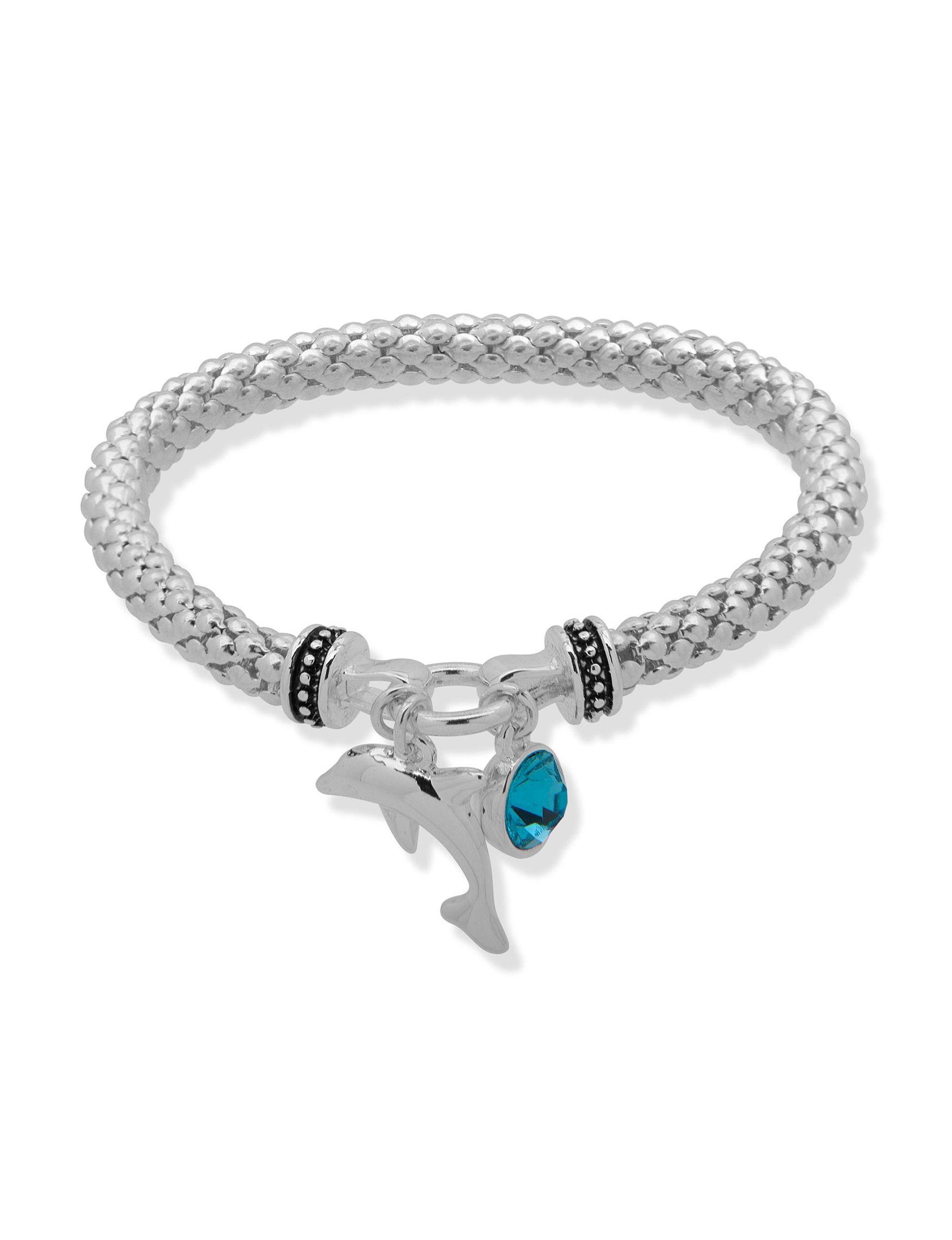 Nine West Turquoise / Silver Bracelets Fashion Jewelry