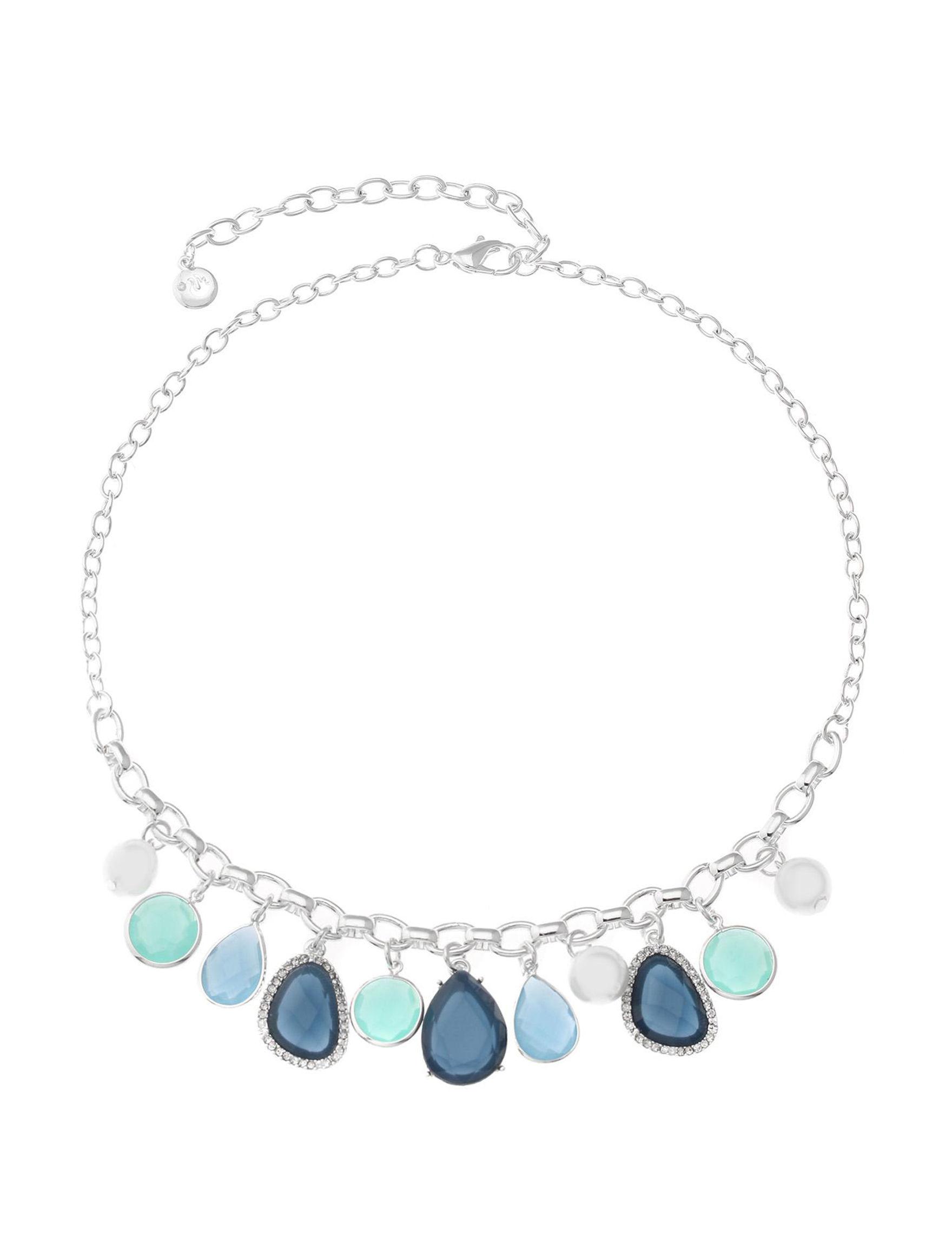 Gloria Vanderbilt Blue Necklaces & Pendants Fashion Jewelry