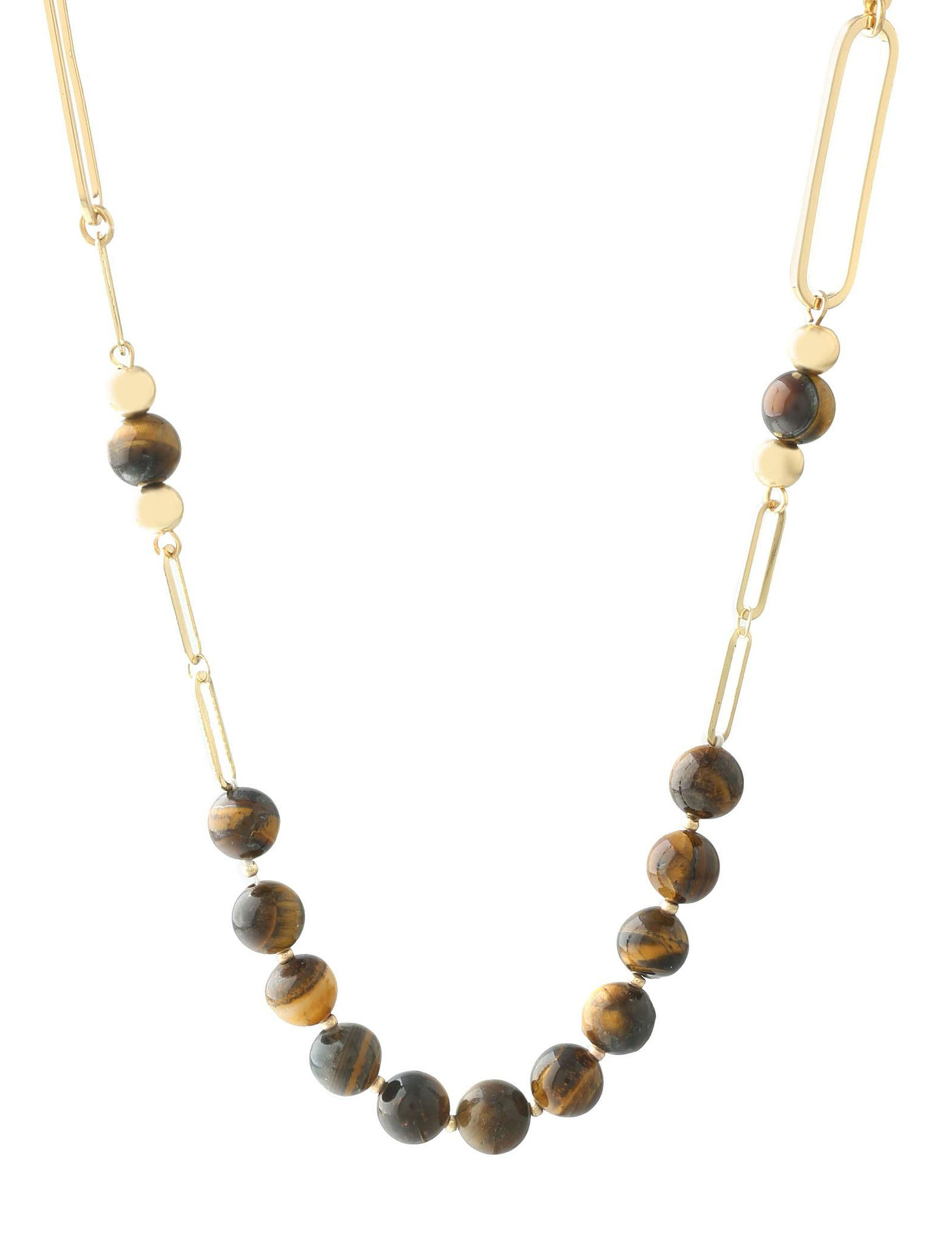 Chaps Brown Necklaces & Pendants Fashion Jewelry