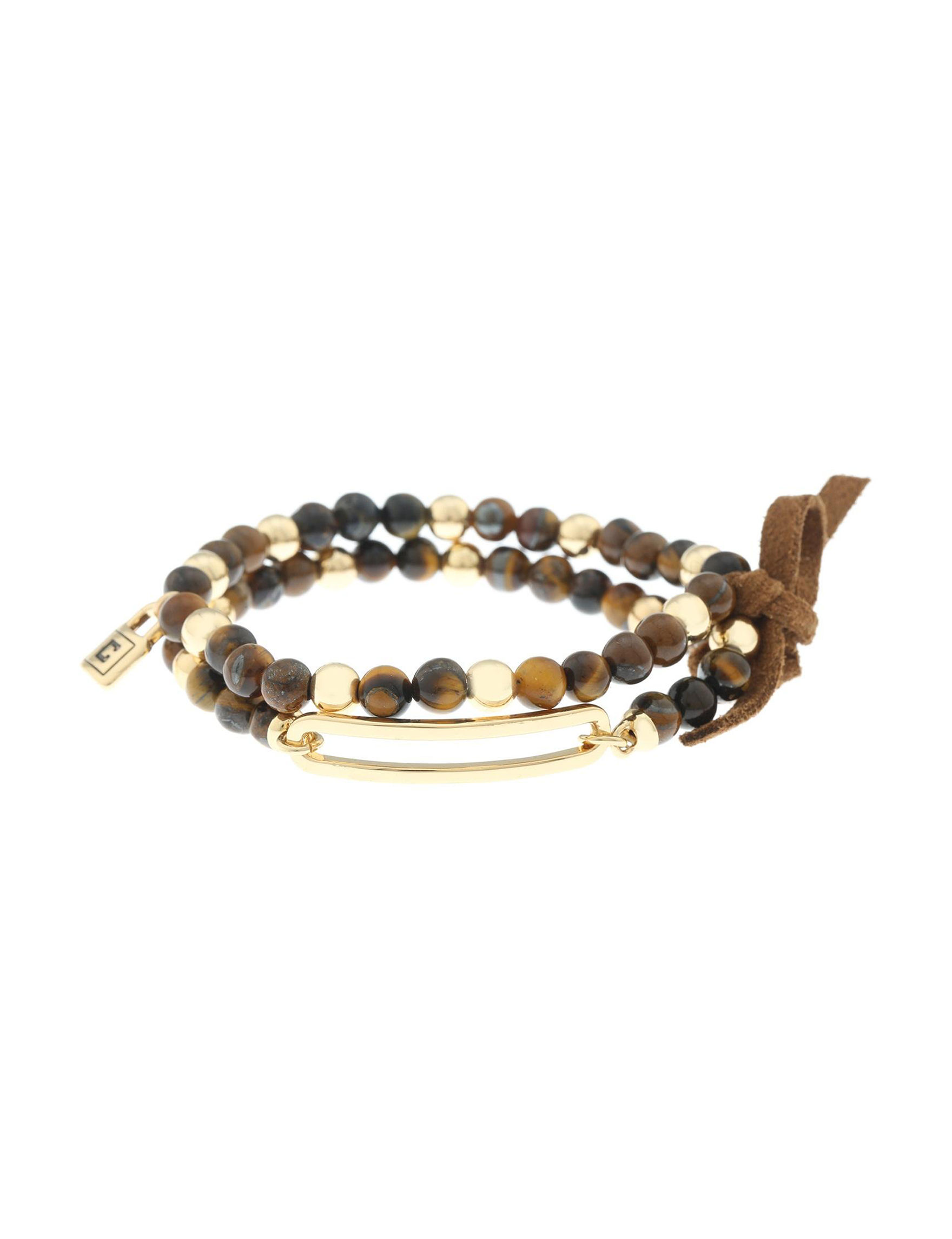 Chaps Brown Bracelets Fashion Jewelry