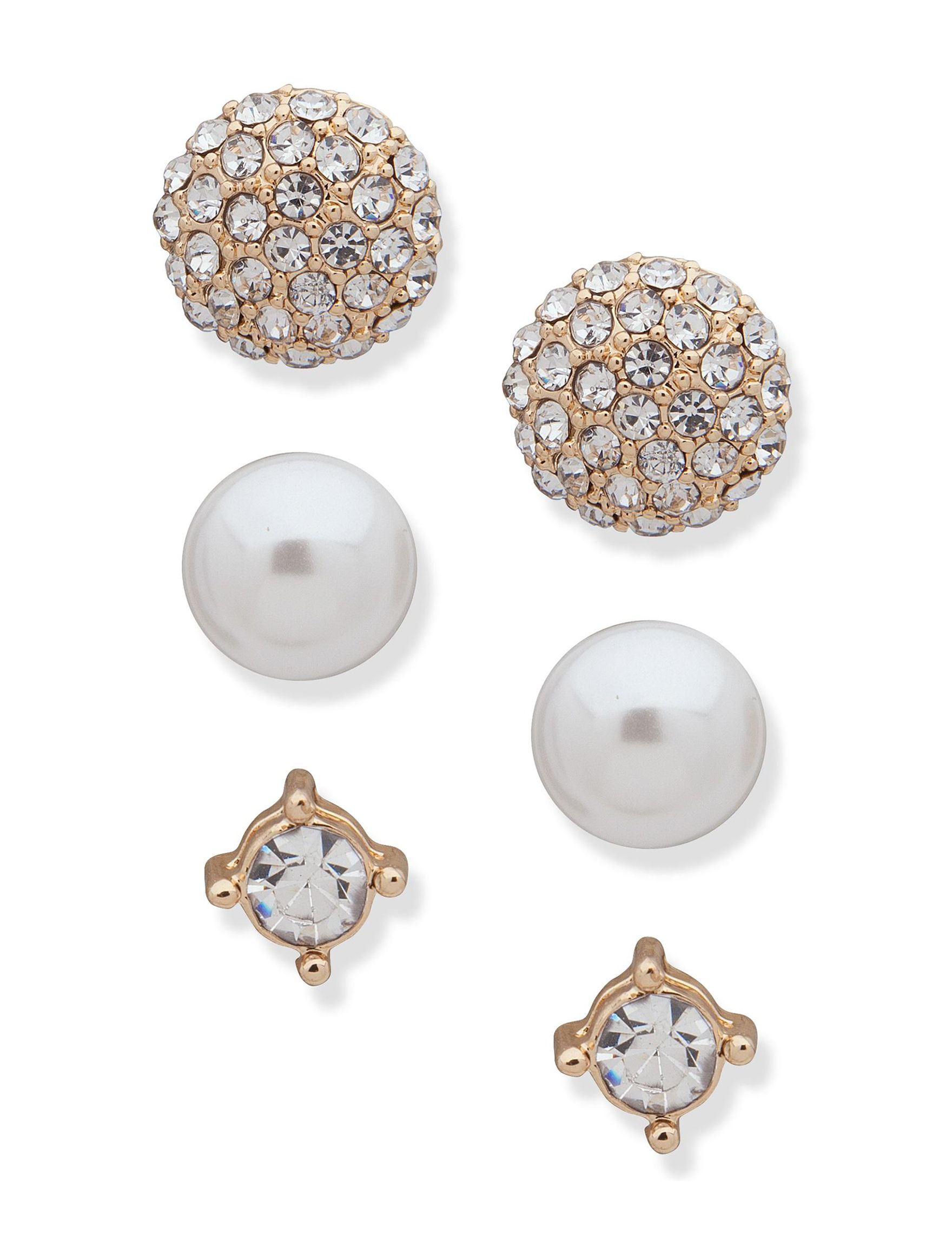 You're Invited Gold Studs Earrings Fashion Jewelry