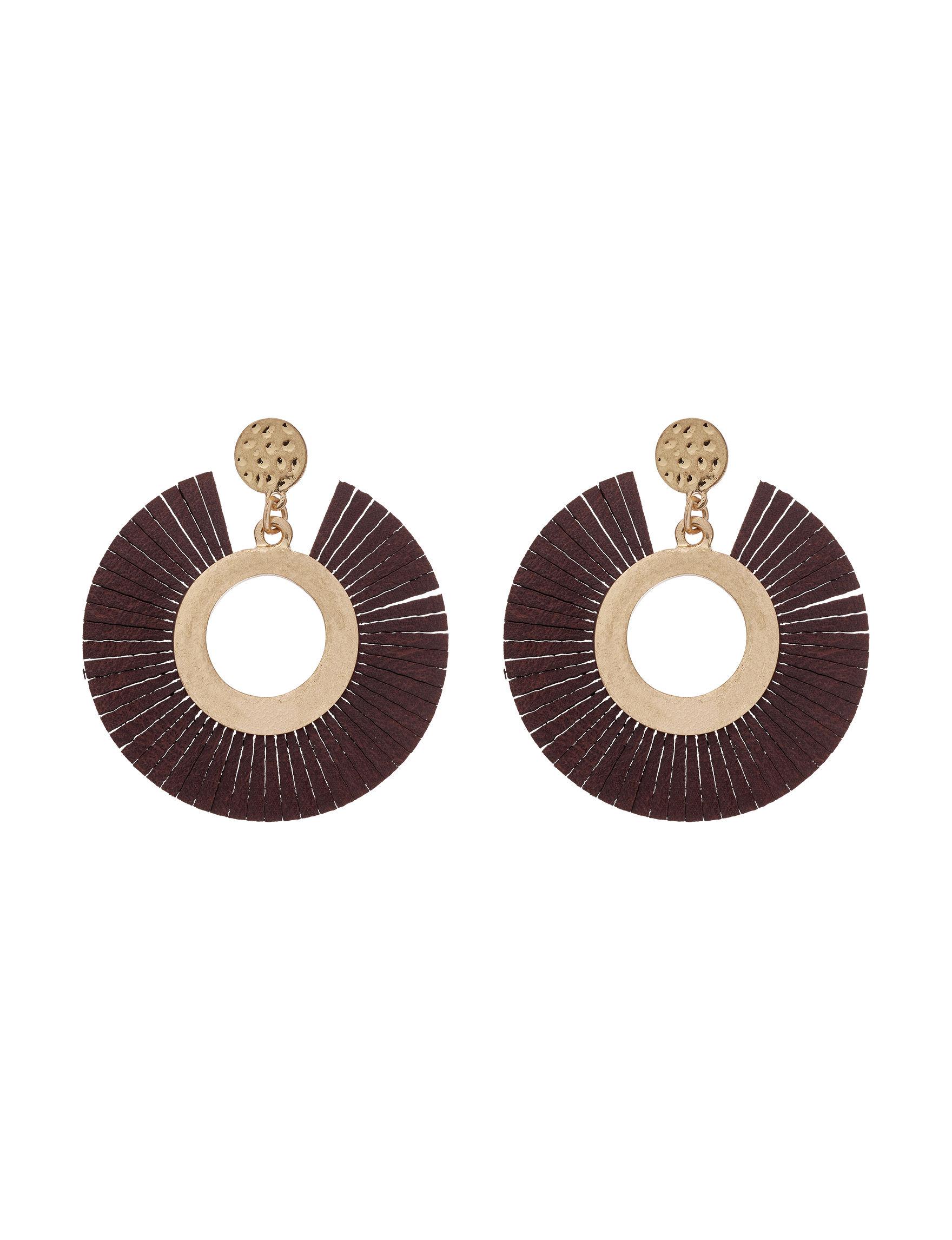 Hannah Gold / Black Drops Earrings Fashion Jewelry
