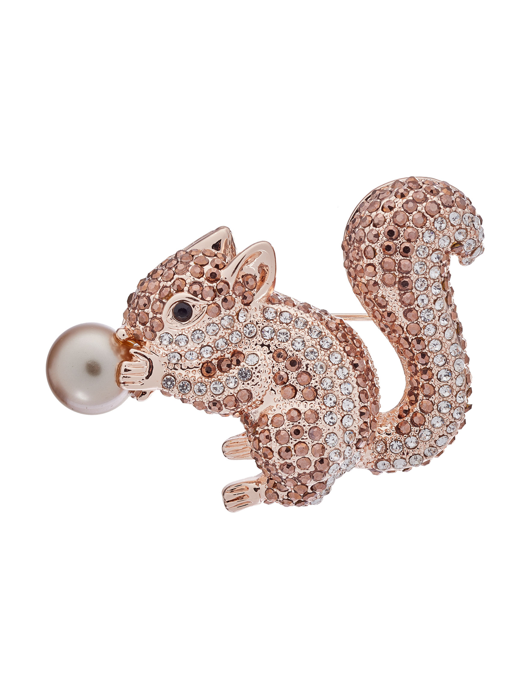 Napier Gold / Brown Multi Pins Fashion Jewelry
