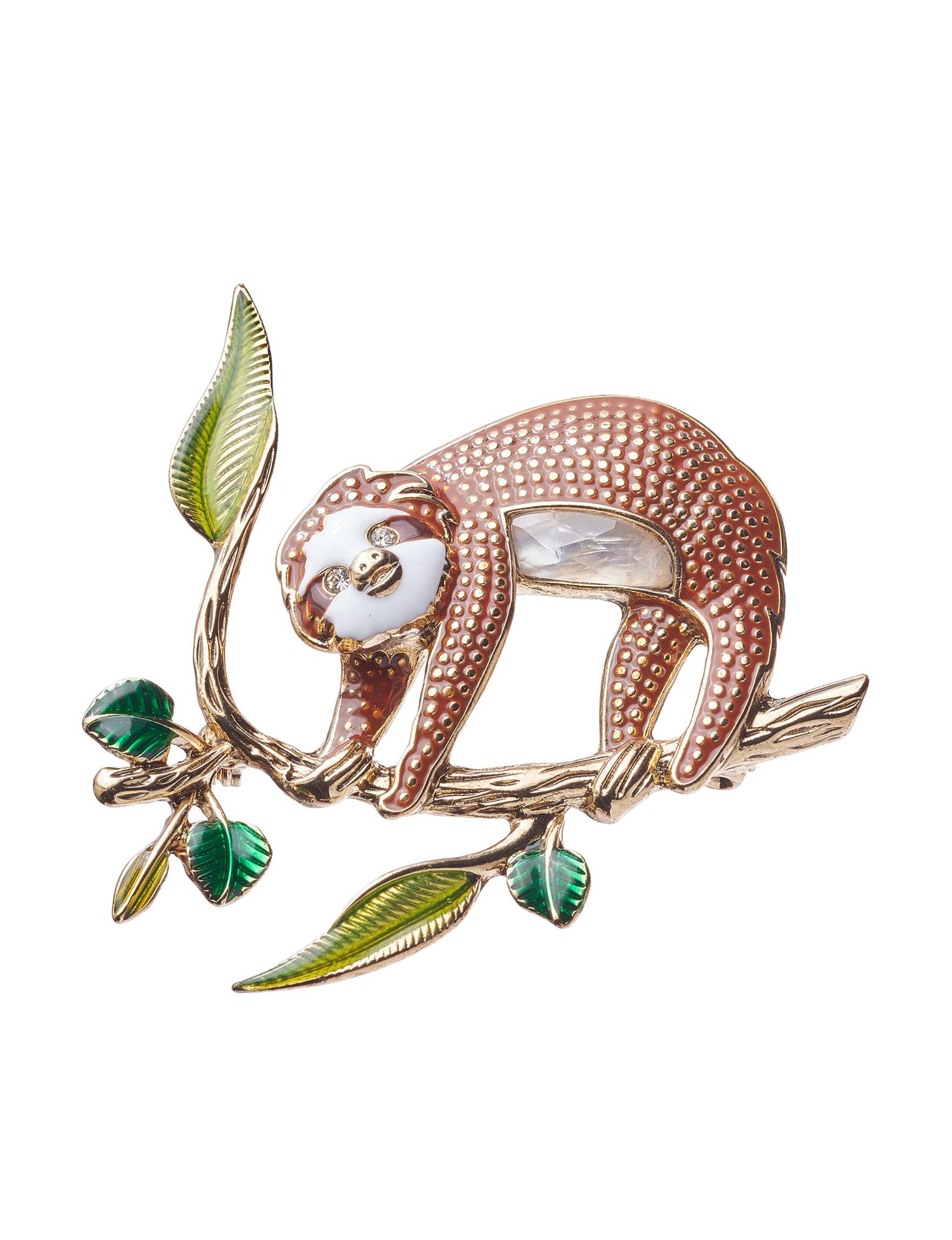 Napier Gold / Multi Pins Fashion Jewelry