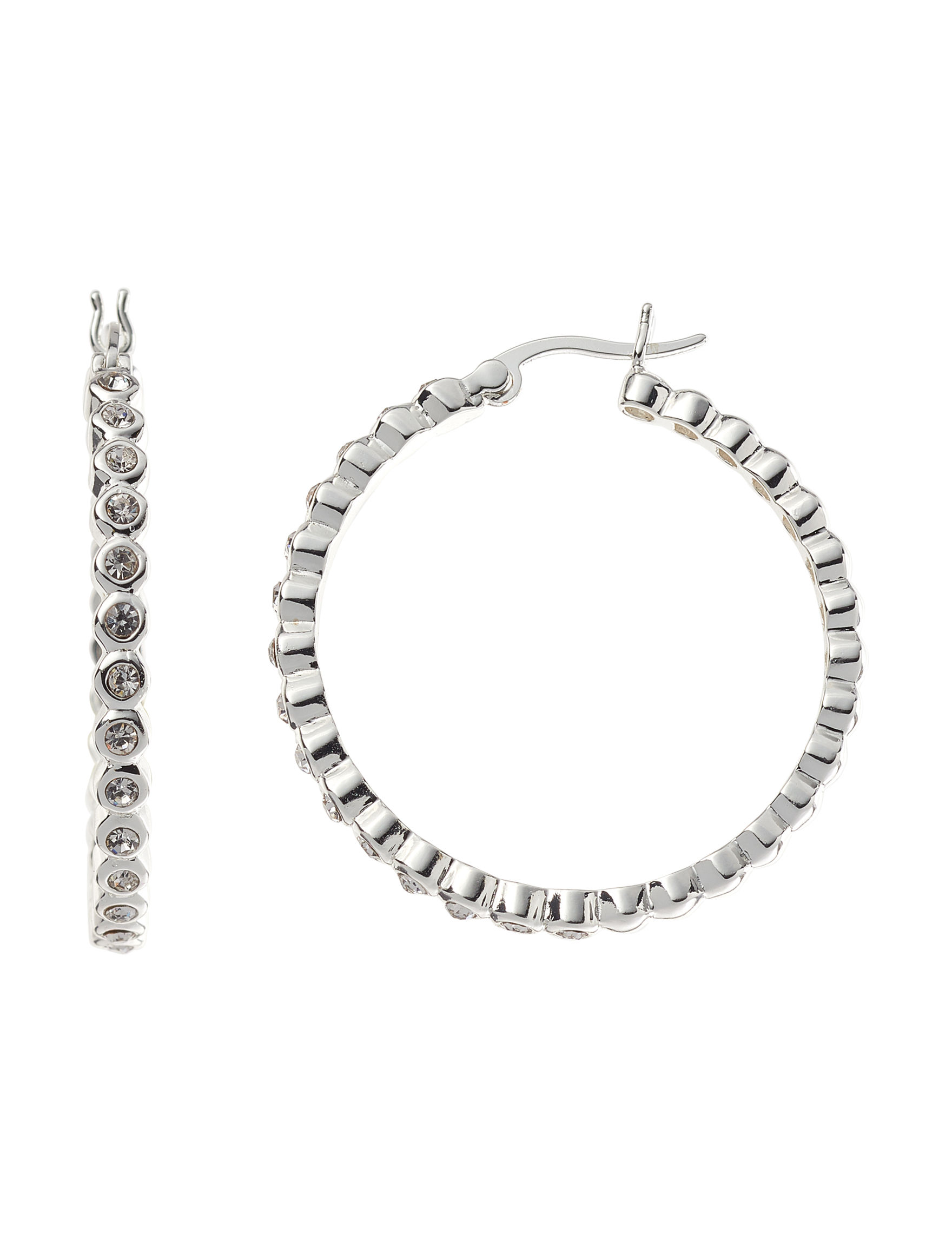 Marsala Fine Silver Plated Hoops Earrings Fine Jewelry