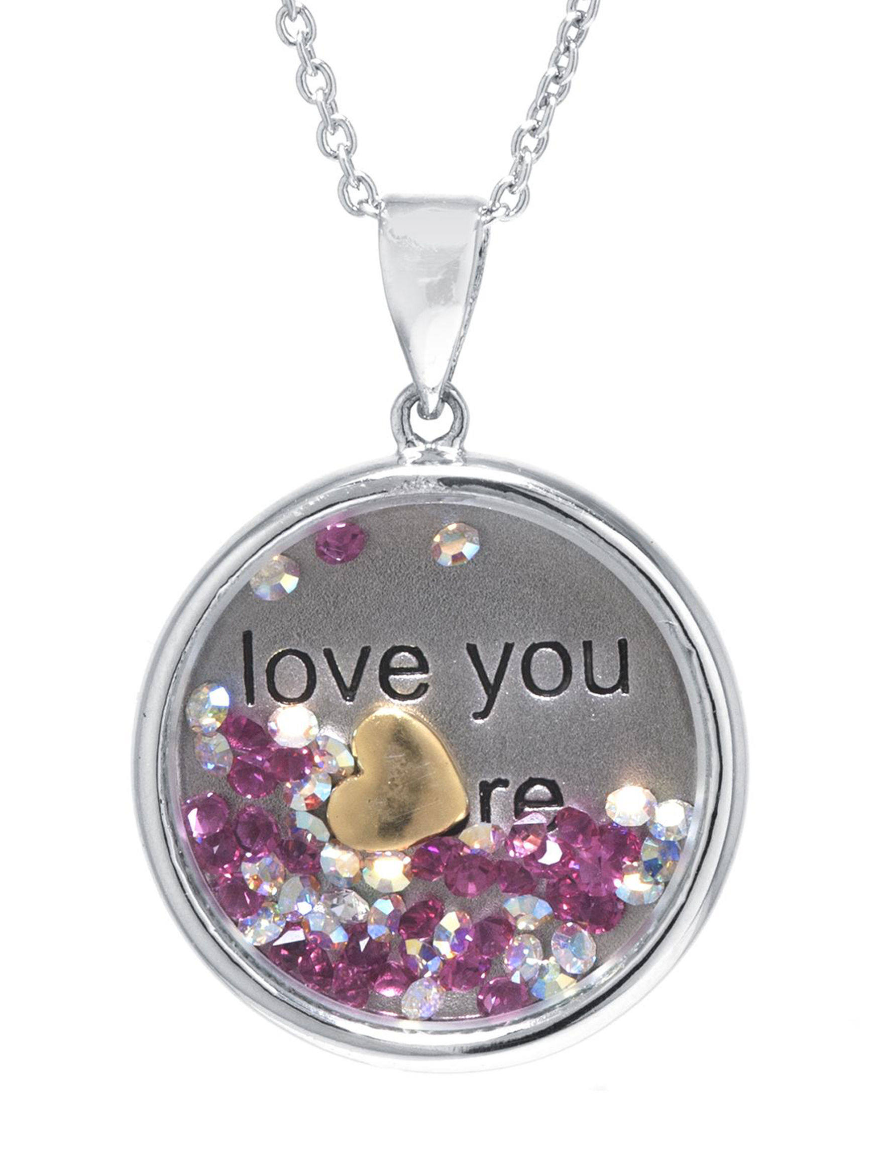 Athra Silver / Pink Necklaces & Pendants Fine Jewelry