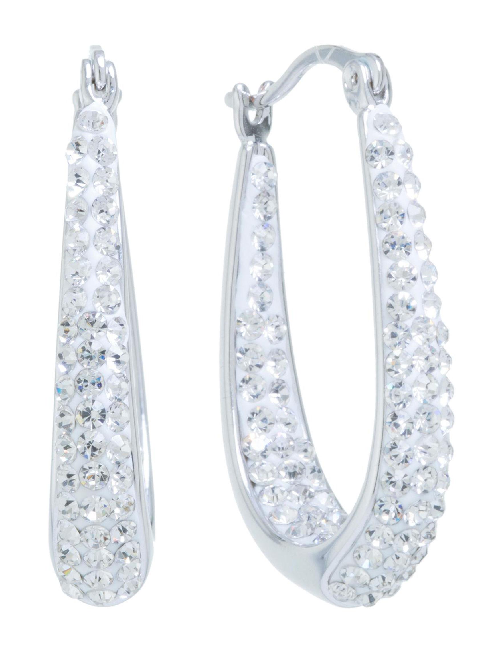 Athra Silver Hoops Earrings Fine Jewelry