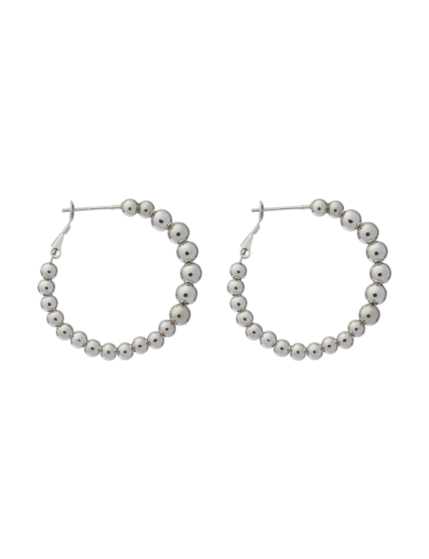Athra Fine Silver Plated Hoops Fine Jewelry