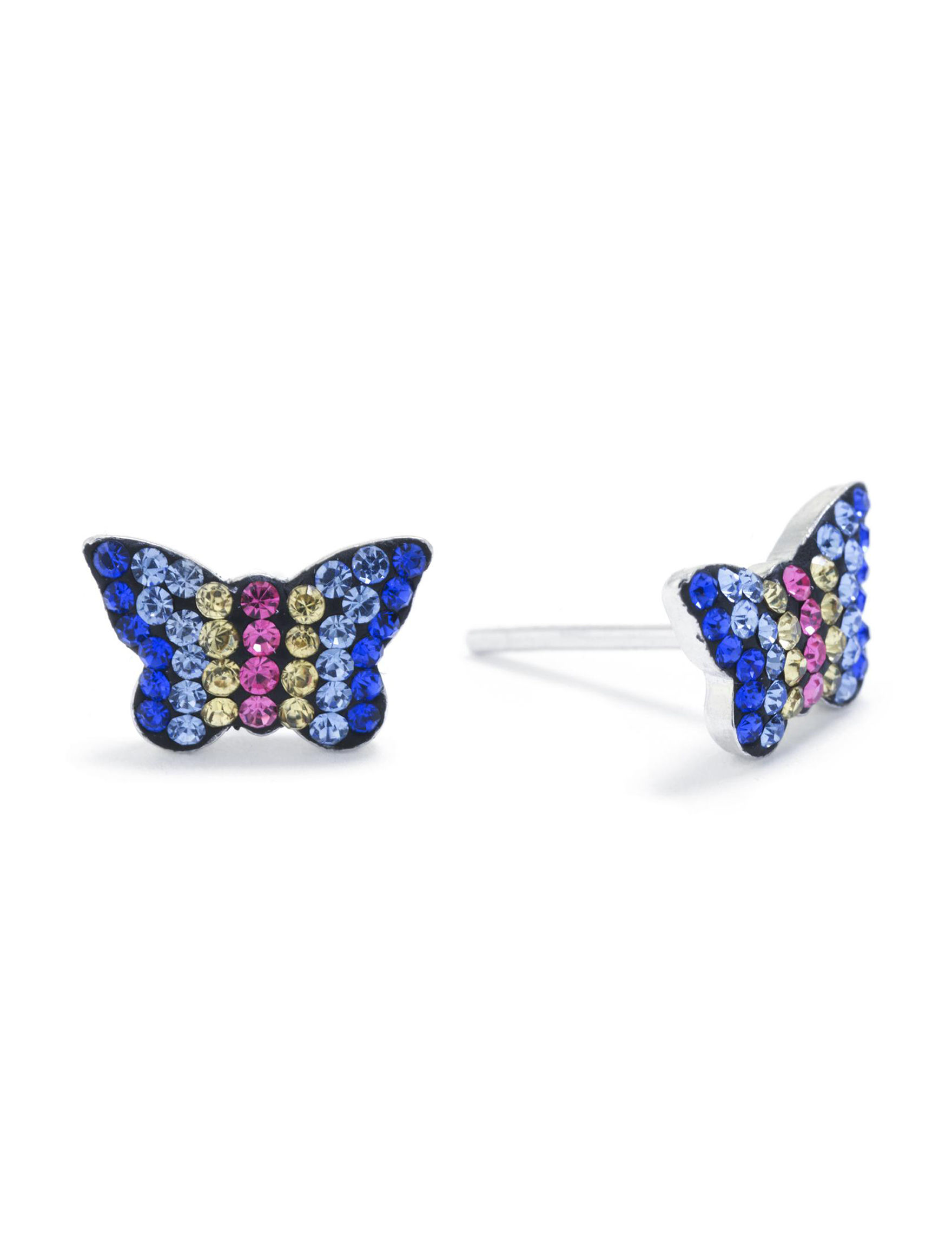 Athra Silver / Multi Studs Earrings Fine Jewelry