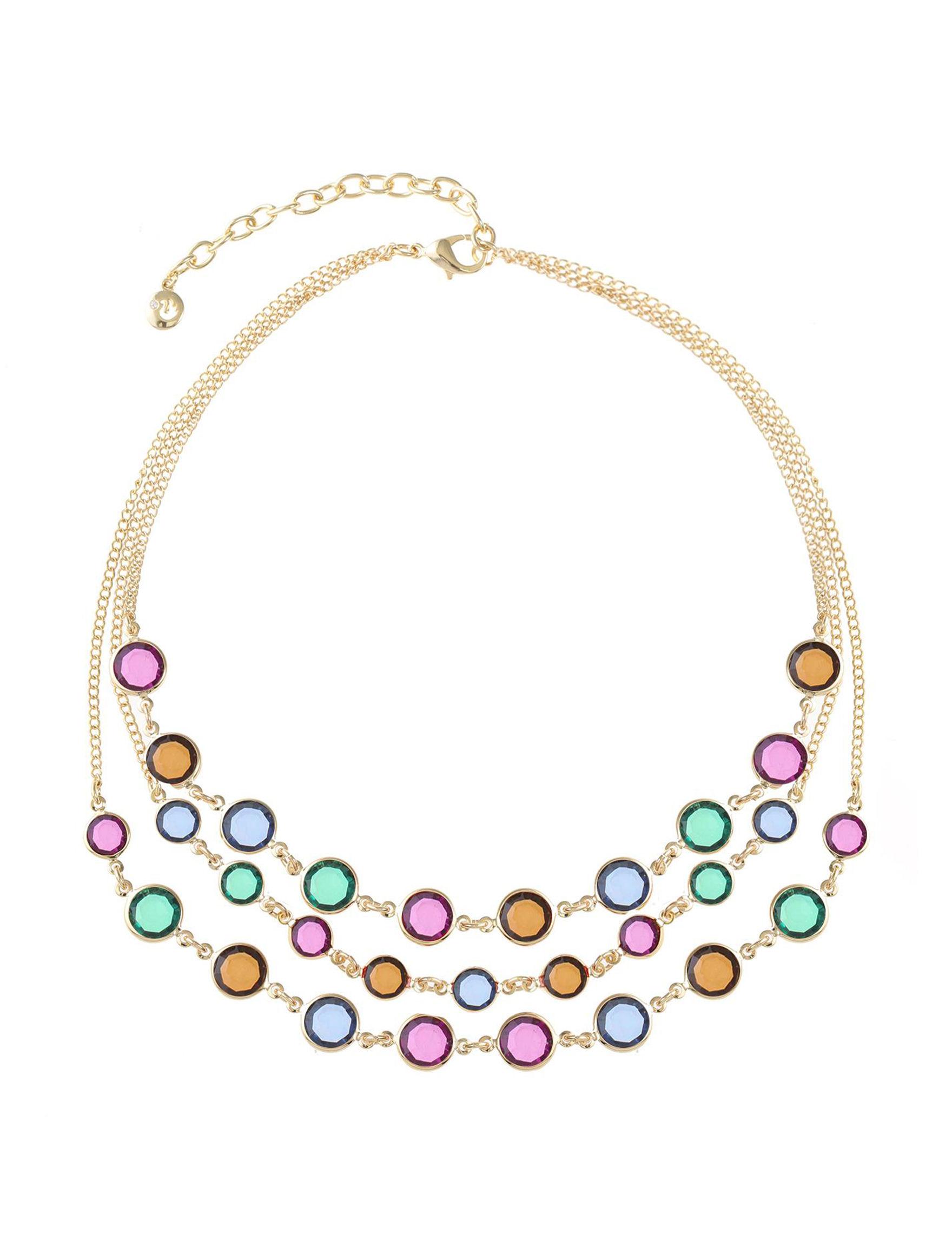 Gloria Vanderbilt Gold / Multi Necklaces & Pendants Fashion Jewelry