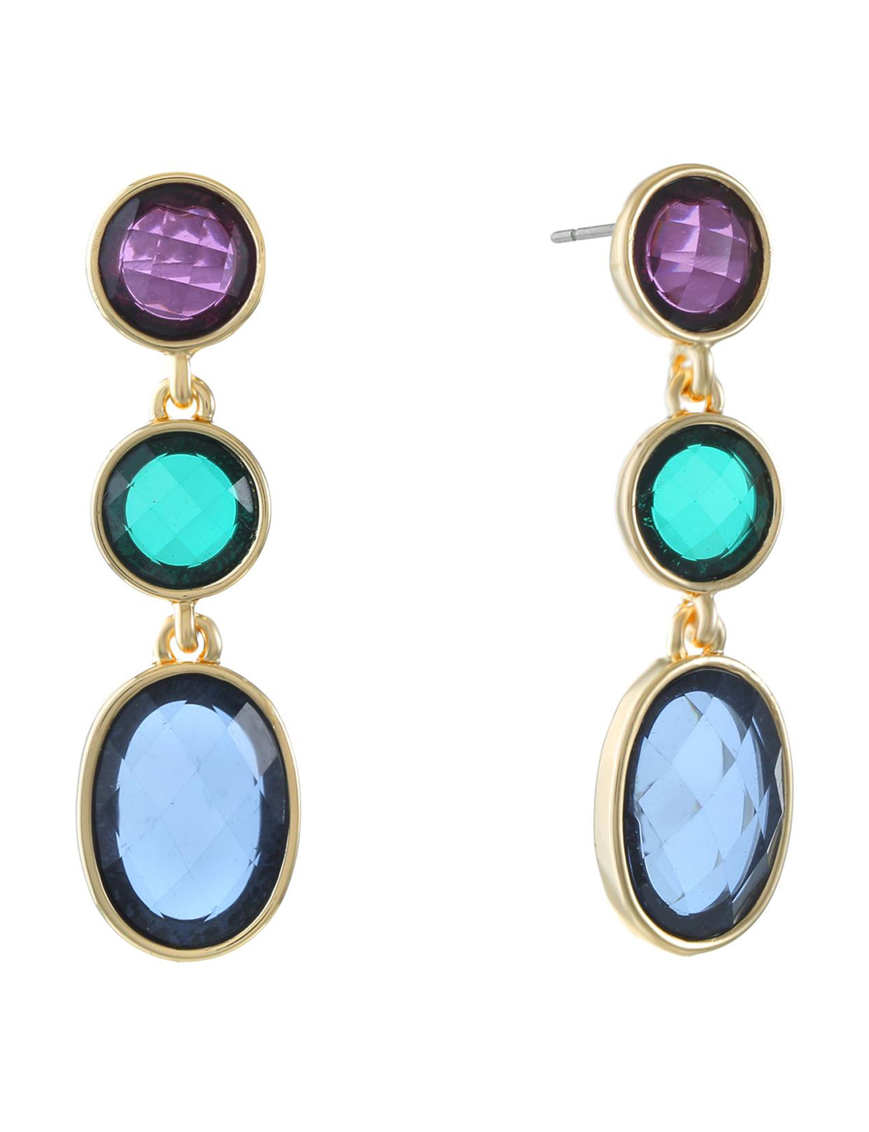 Gloria Vanderbilt Gold / Multi Drops Earrings Fashion Jewelry