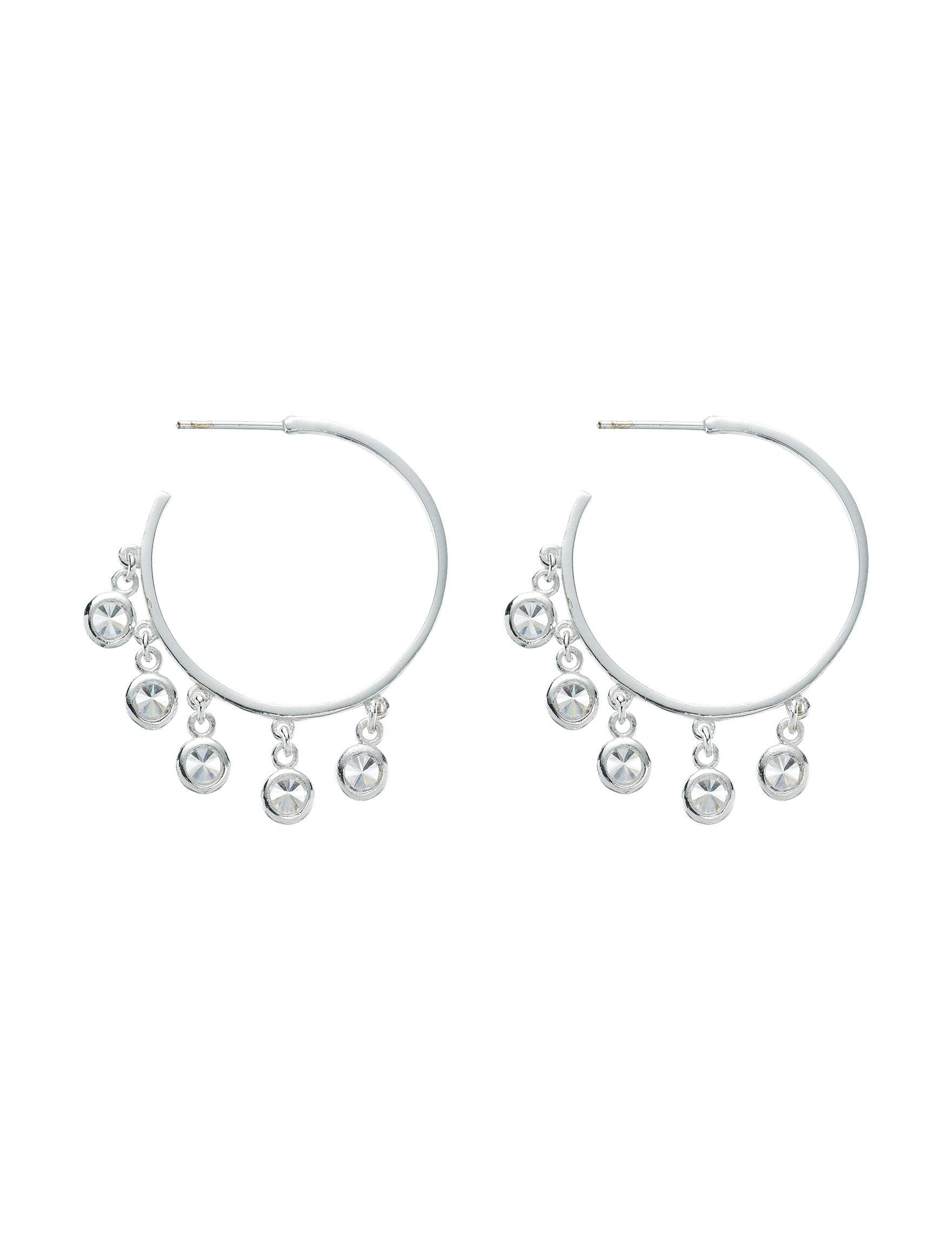 Marsala Sterling Silver Hoops Fine Jewelry
