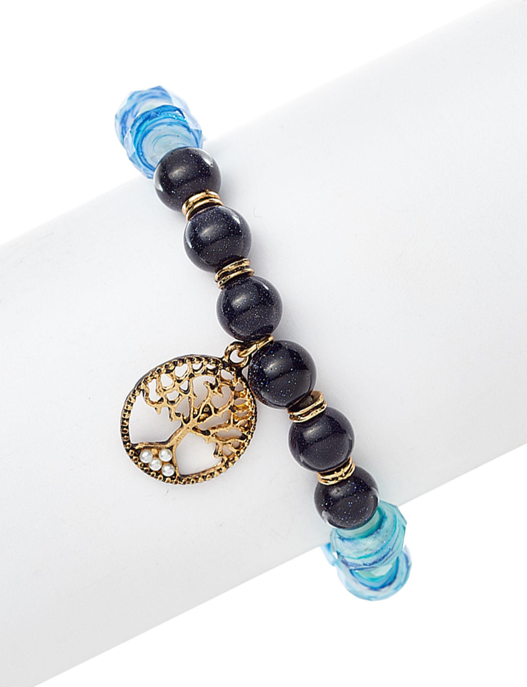 Marsala Black / Blue Bracelets Fine Jewelry